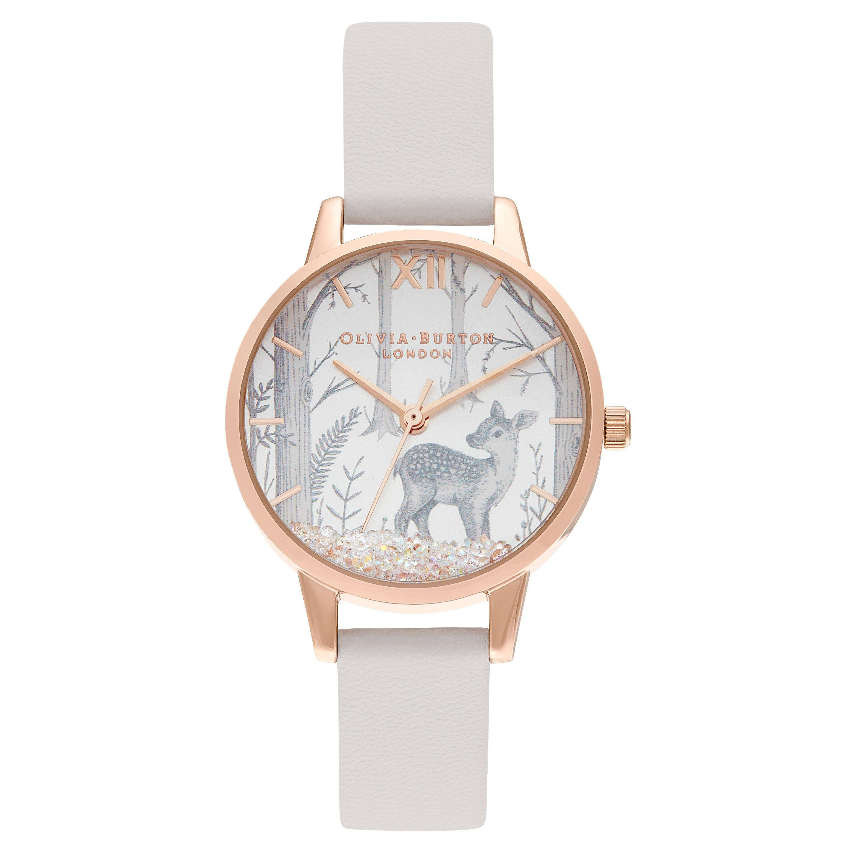Olivia Burton Snow Globe Rose Gold Tone Ladies Watch