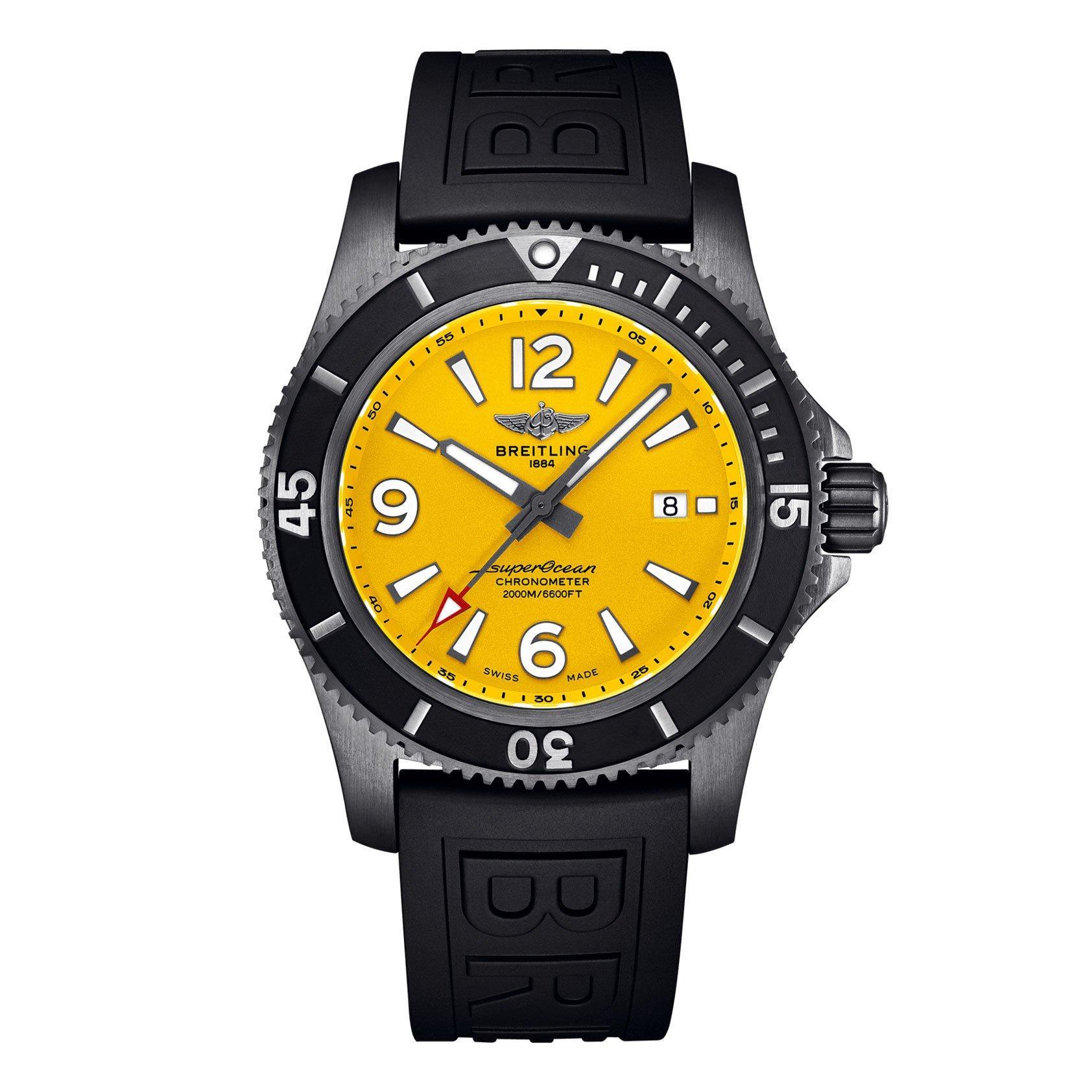 Breitling Superocean Automatic 46 Black Steel Automatic Men's Watch