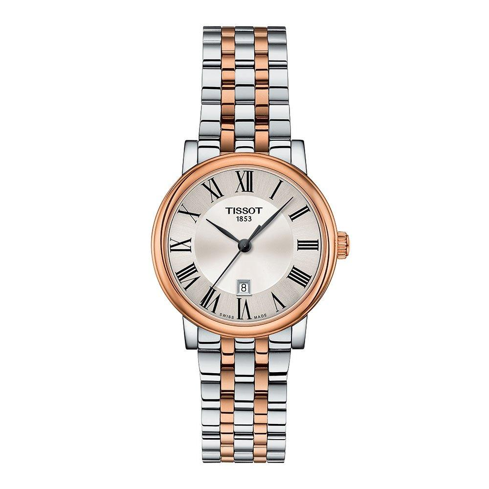 Tissot Carson Steel and Rose Gold Tone Premium Lady Watch