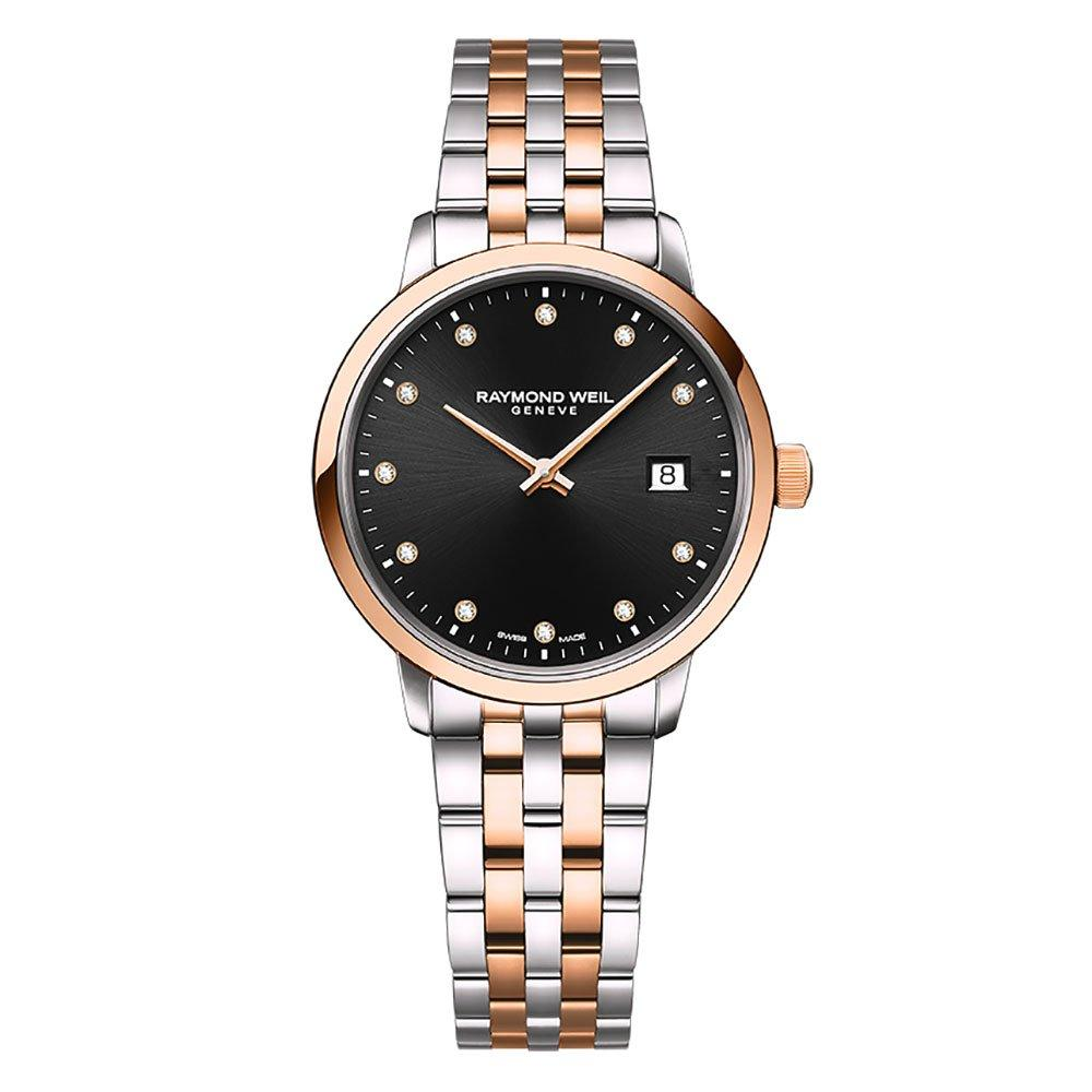 Raymond Weil Toccata Rose Gold Plated And Stainless Steel Ladies Watch