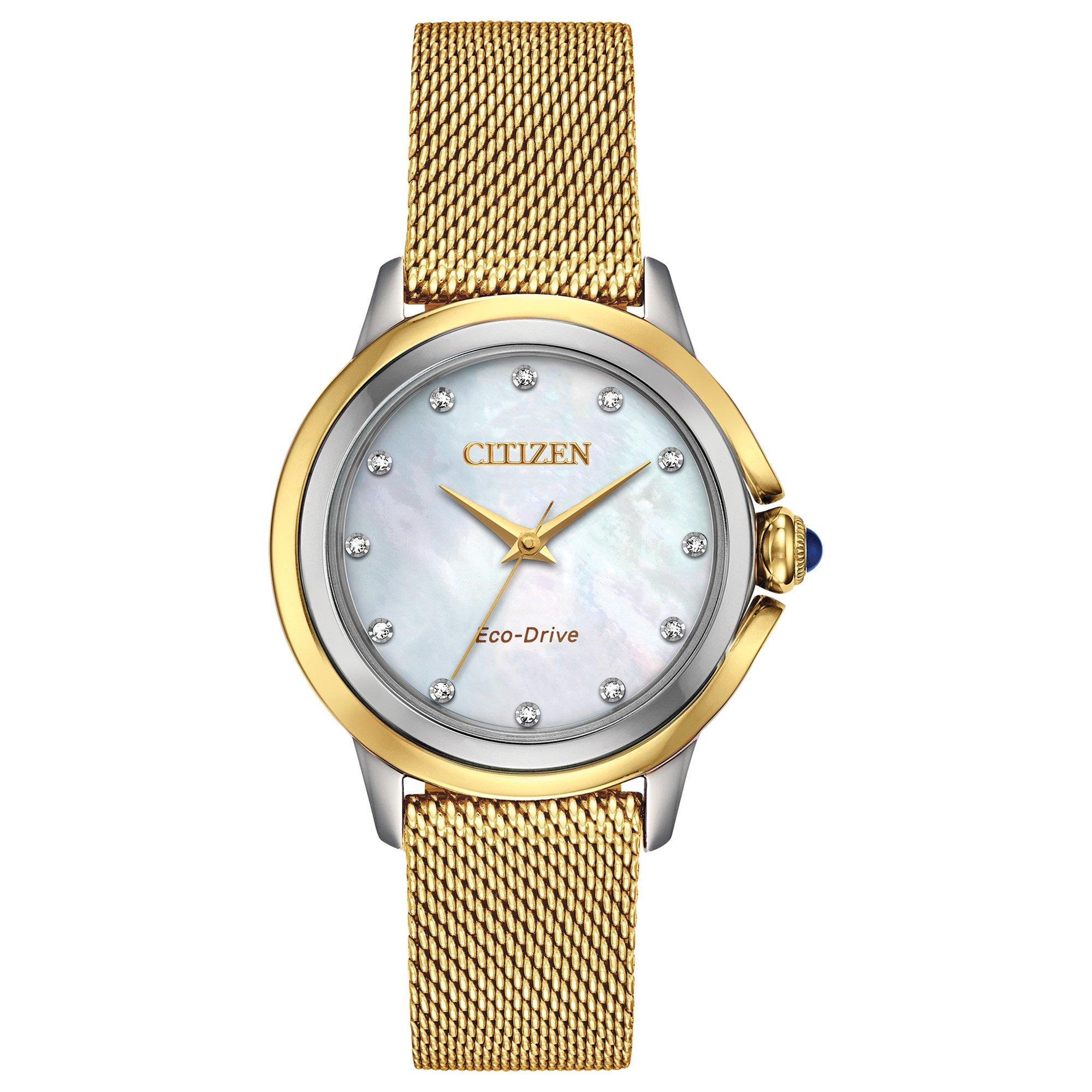Citizen Ceci Diamond Dot Gold Plated Ladies Watch