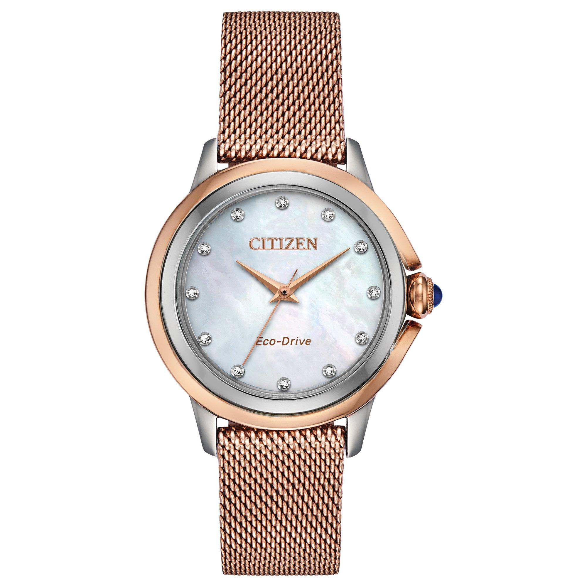 Citizen Ceci Diamond Dot Rose Gold Plated Ladies Watch
