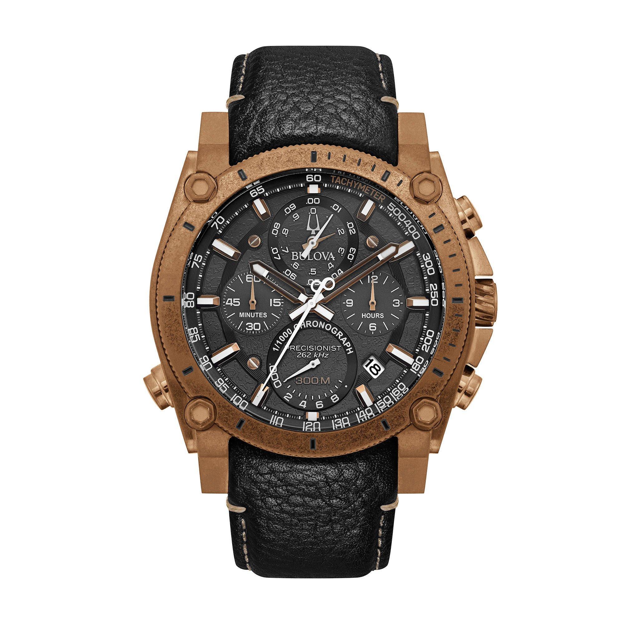 Bulova Precisionist Bronze IP Chronograph Men's Watch