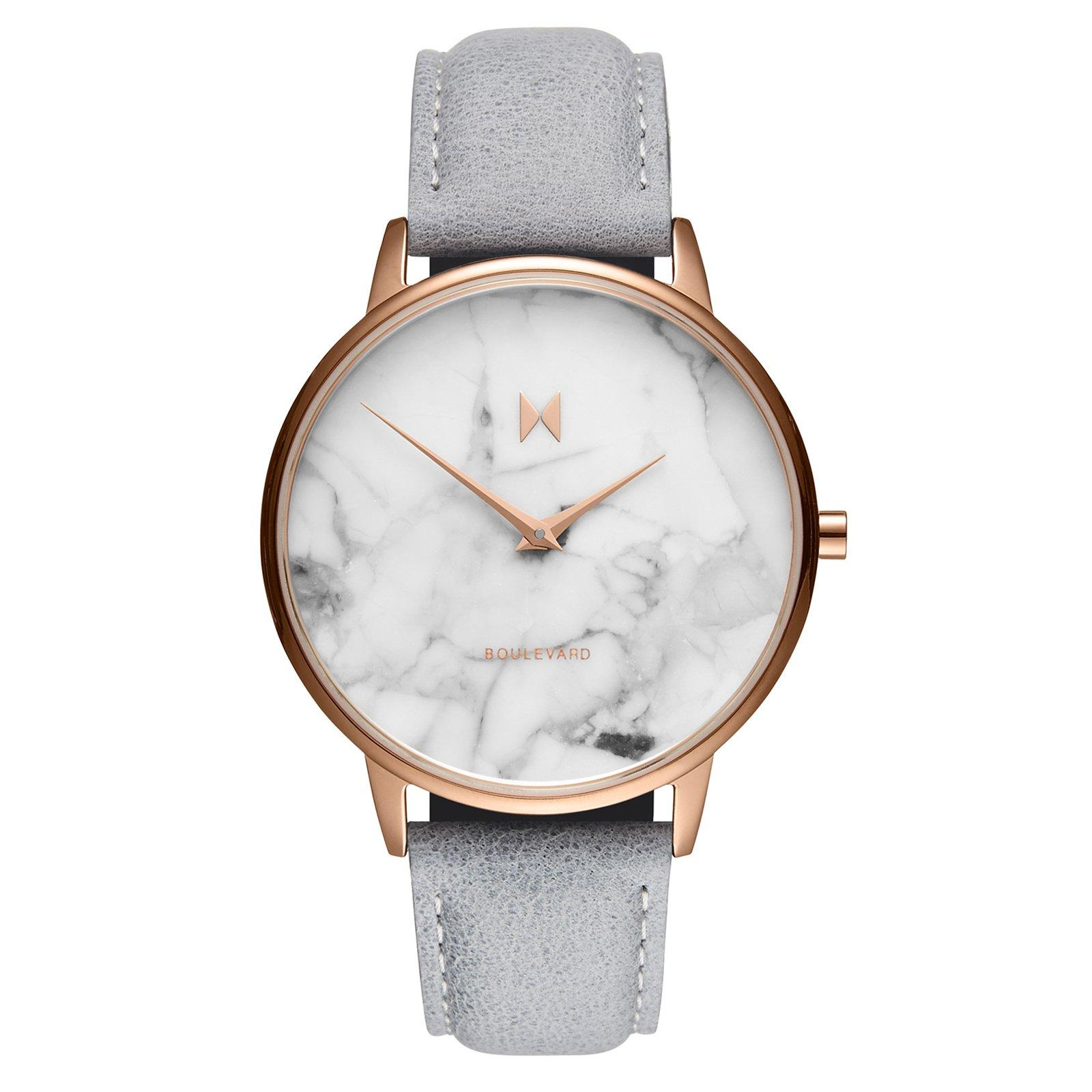 MVMT Boulevard Rose Gold Plated Marble Effect Ladies Watch
