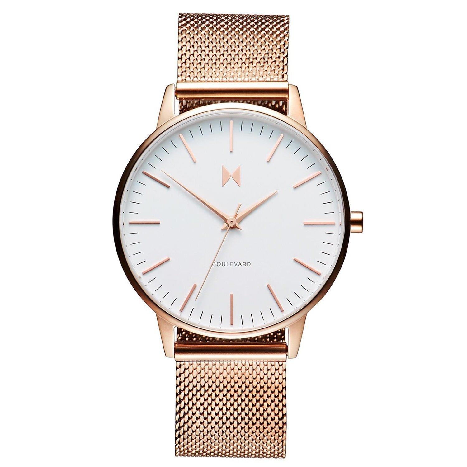 MVMT Boulevard Malibu Rose Gold Plated Mesh Ladies Watch