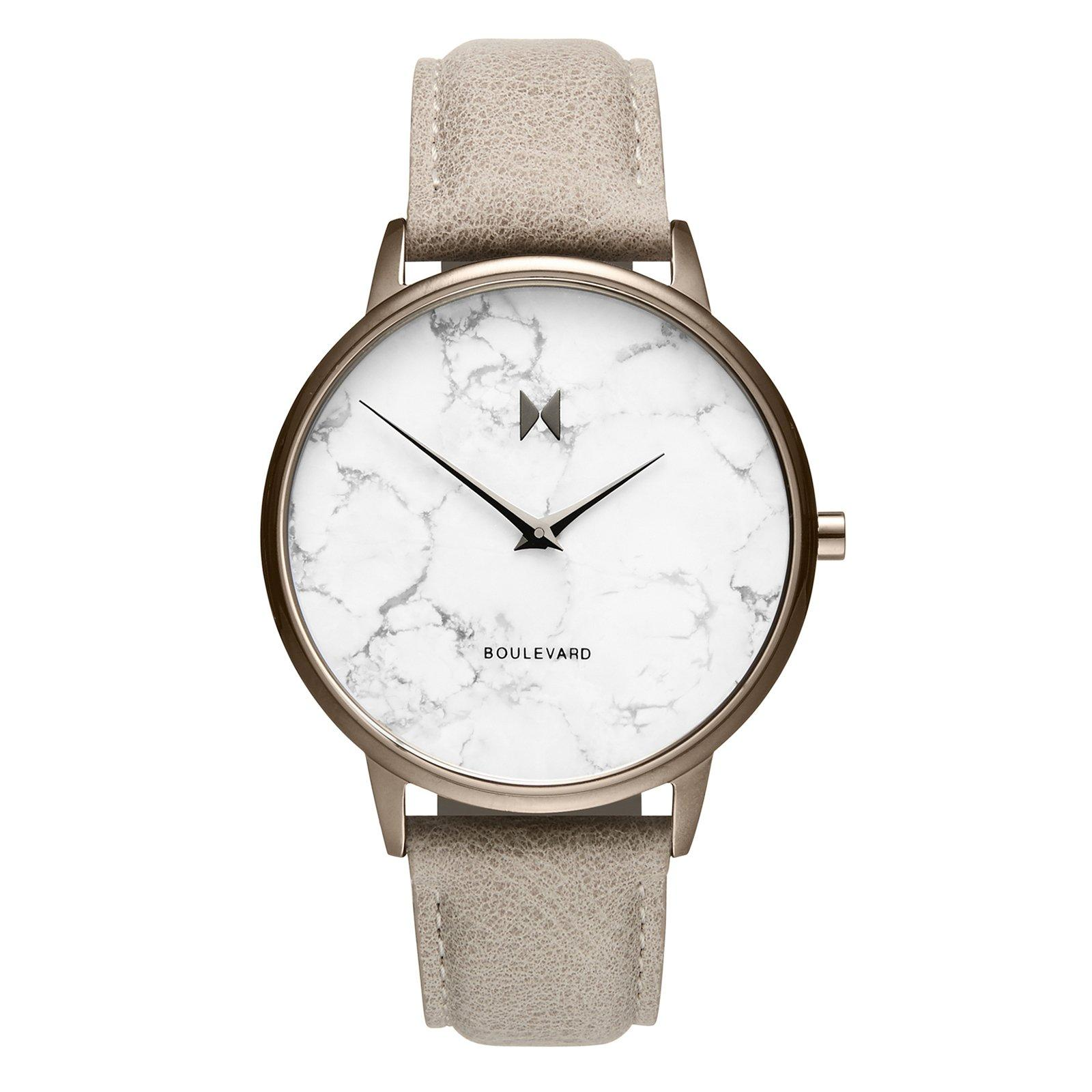 MVMT Boulevard Taupe Ion Plated Marble Effect Ladies Watch
