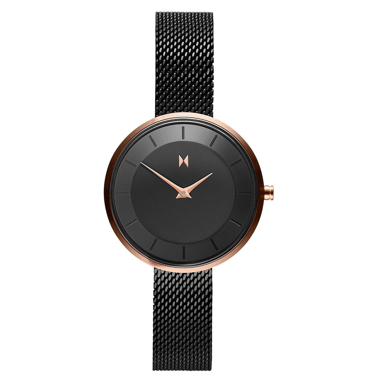 MVMT Rose Gold Plated and Black Ion Plated Ladies Watch