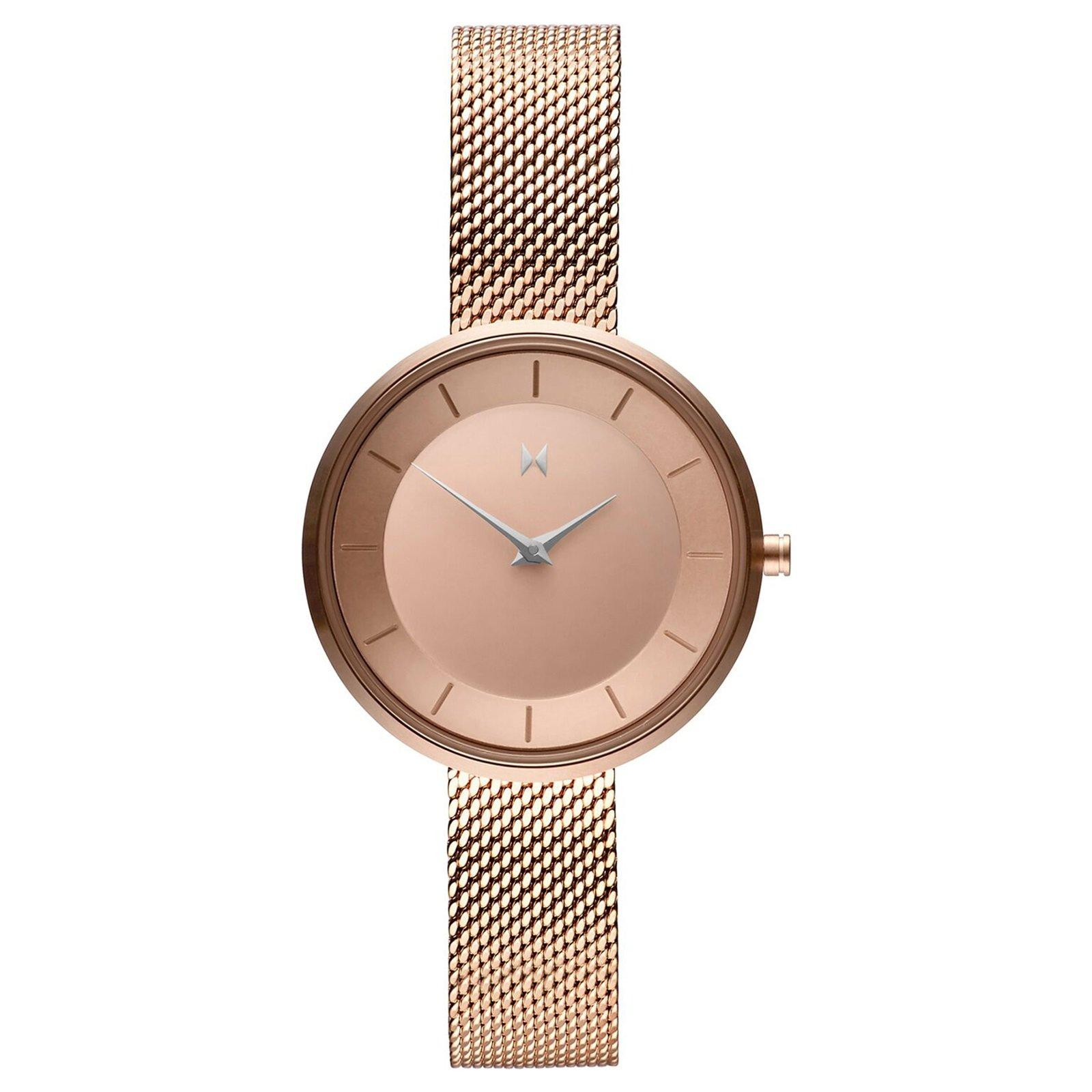MVMT Rose Gold Plated Mesh Ladies Watch