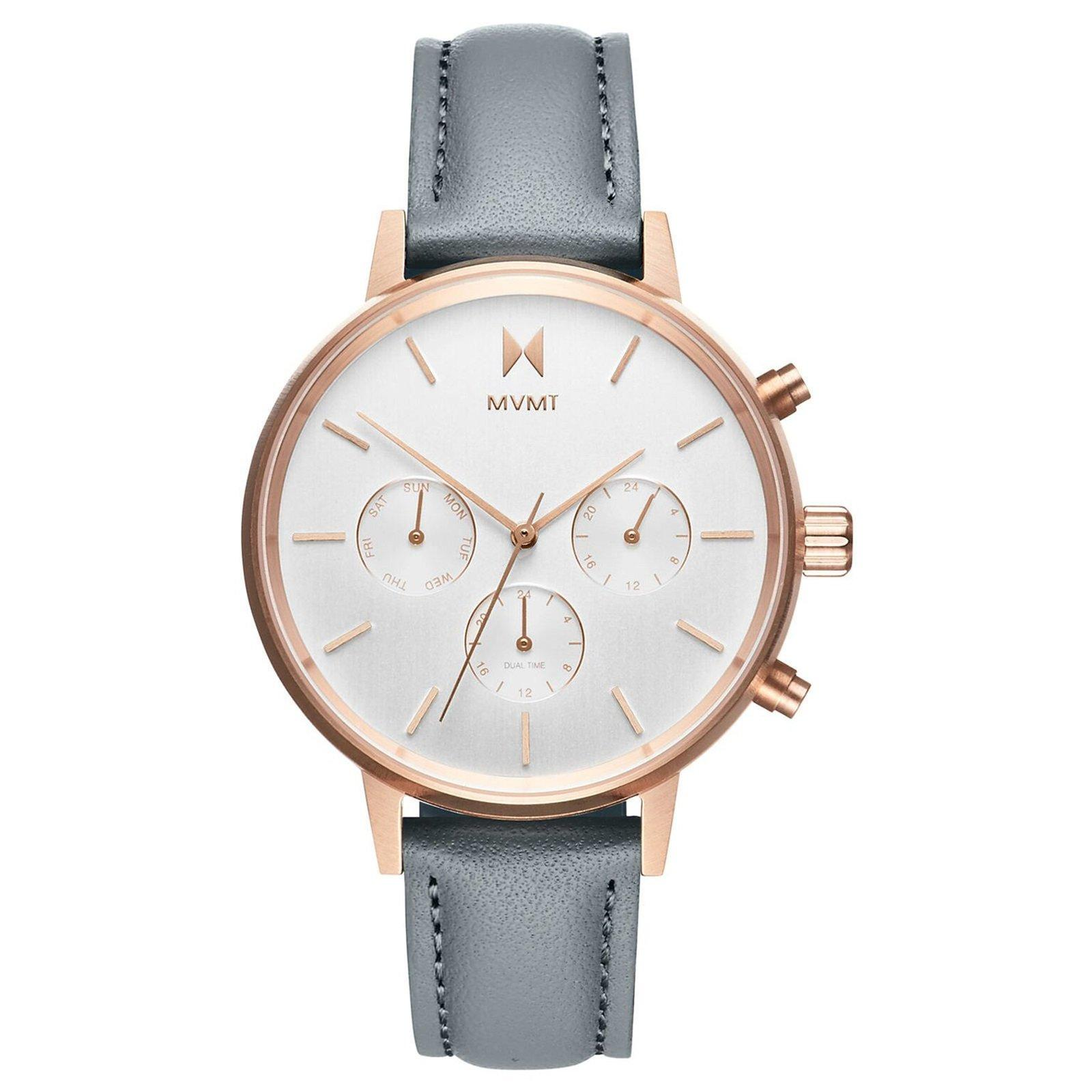 MVMT Nova Rose Gold Plated Grey Chronograph Ladies Watch