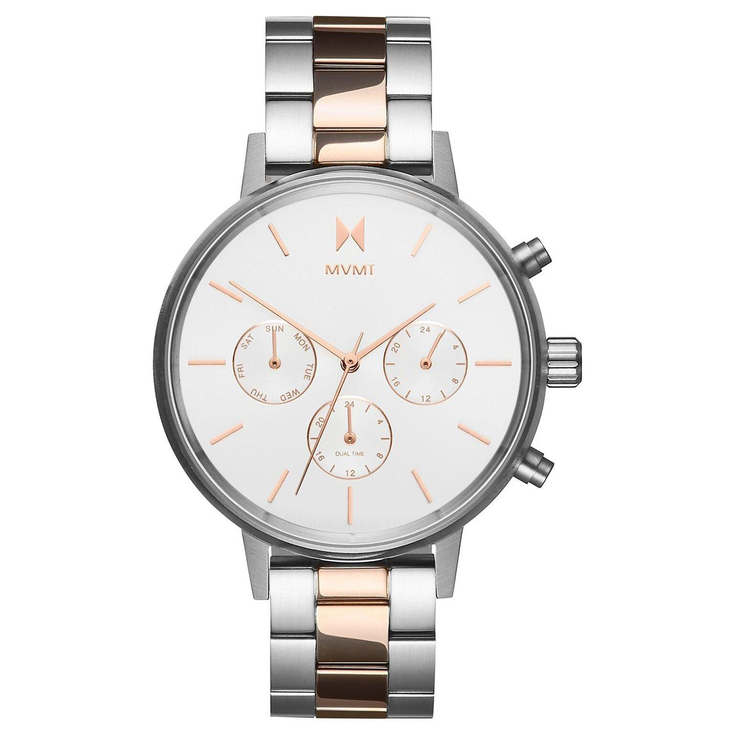 MVMT Nova Steel And Rose Gold Plated Chronograph Ladies Watch