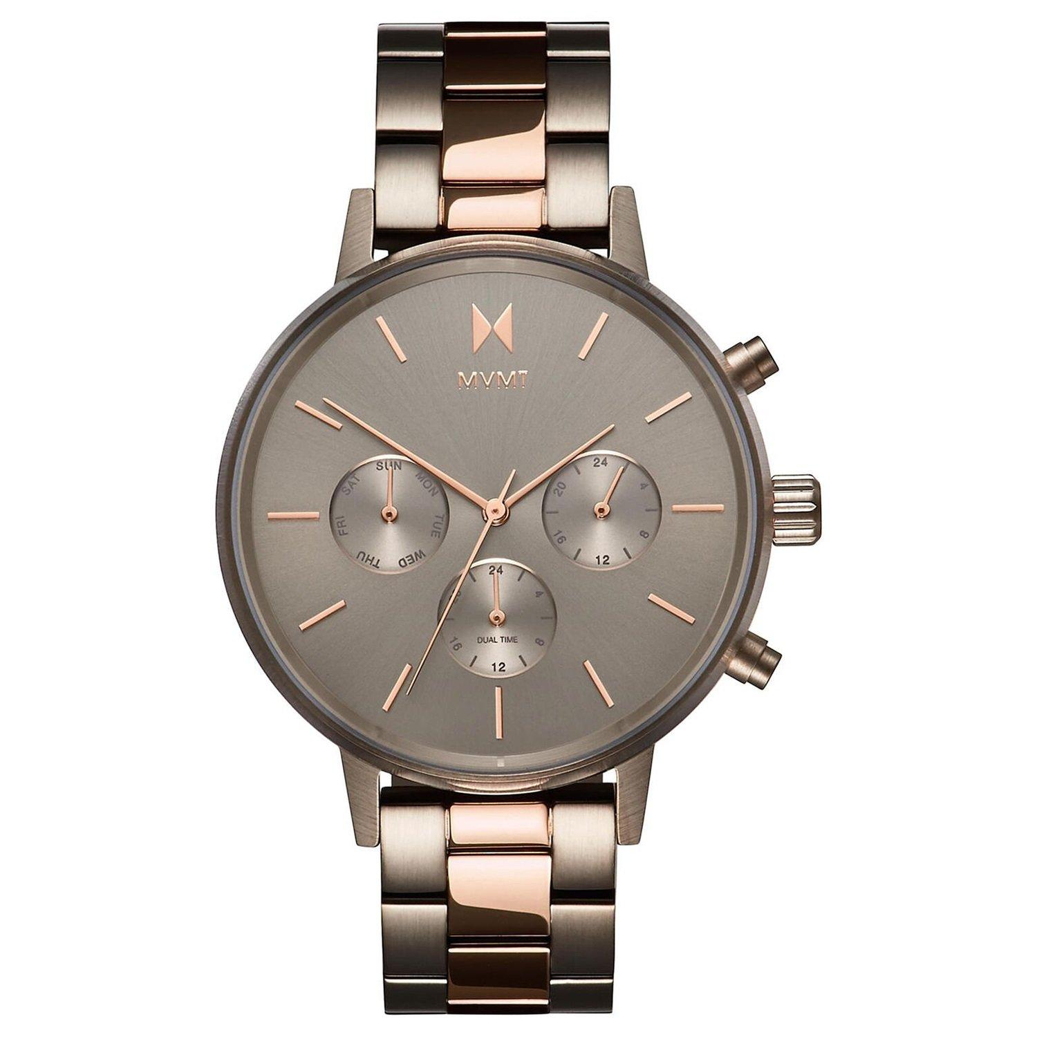 MVMT Nova Steel Taupe And Rose Gold Plated Chronograph Ladies Watch