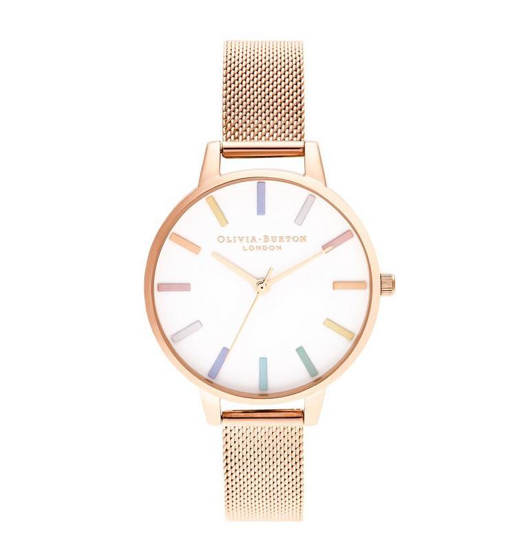 Olivia Burton Rainbow Rose Gold Tone Ladies Watch
