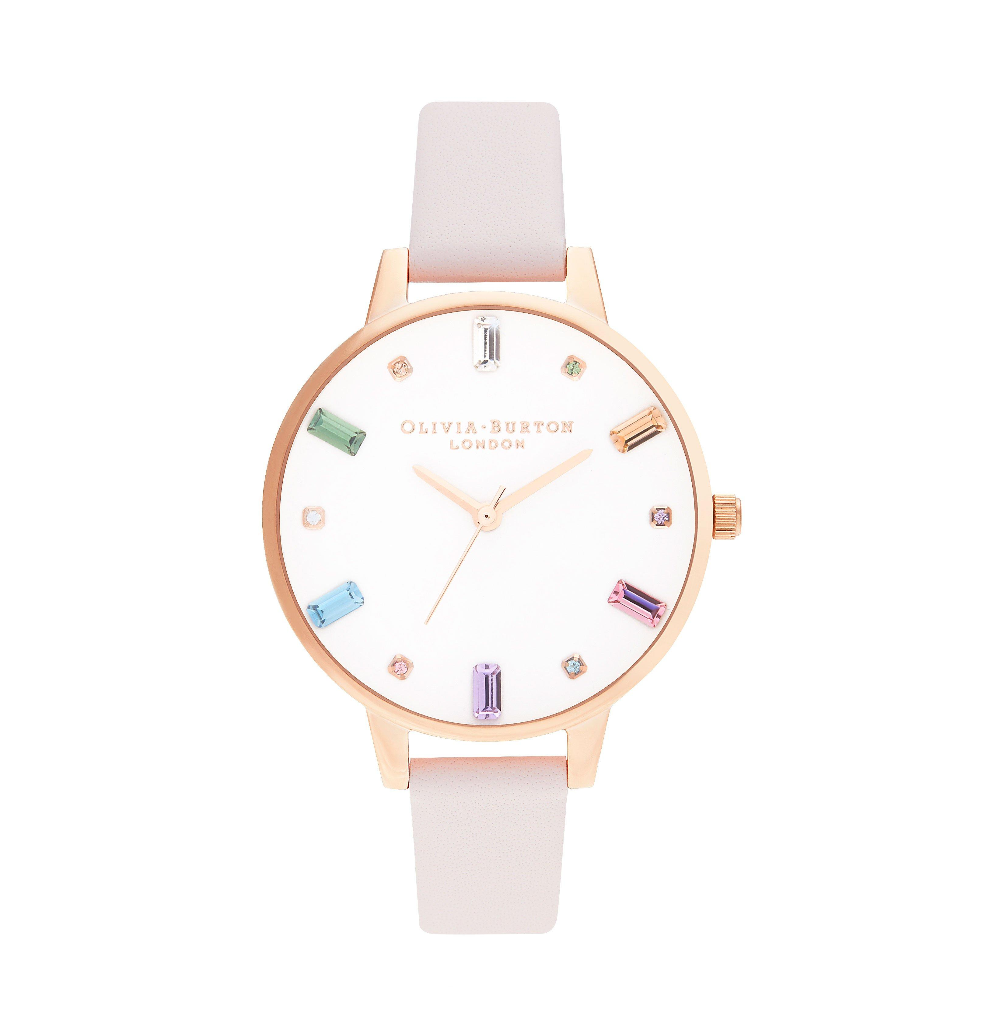 Olivia Burton Rainbow Rose Gold Tone Ladies Watch