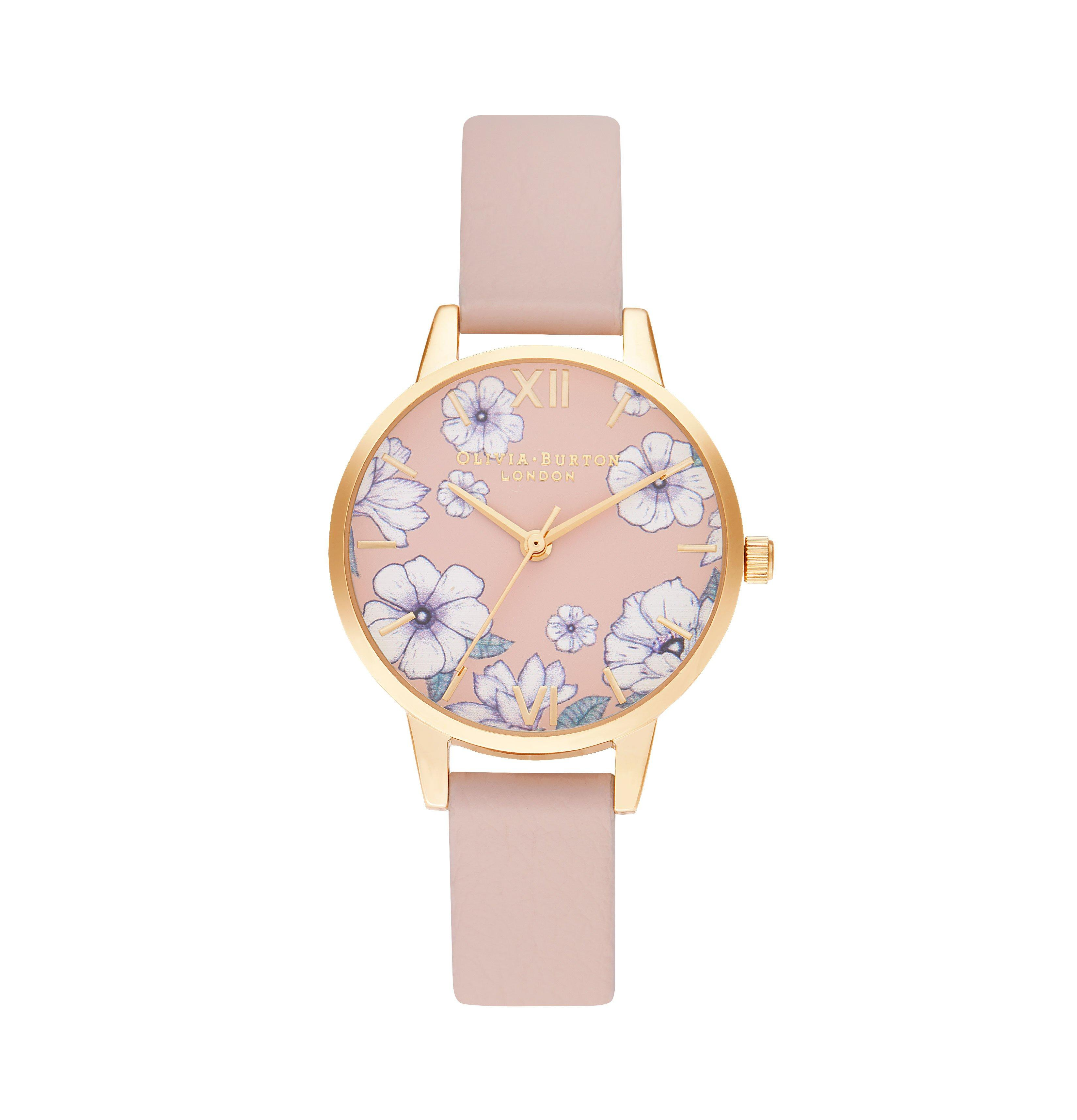 Olivia Burton Groovy Blooms Gold Tone Ladies Watch