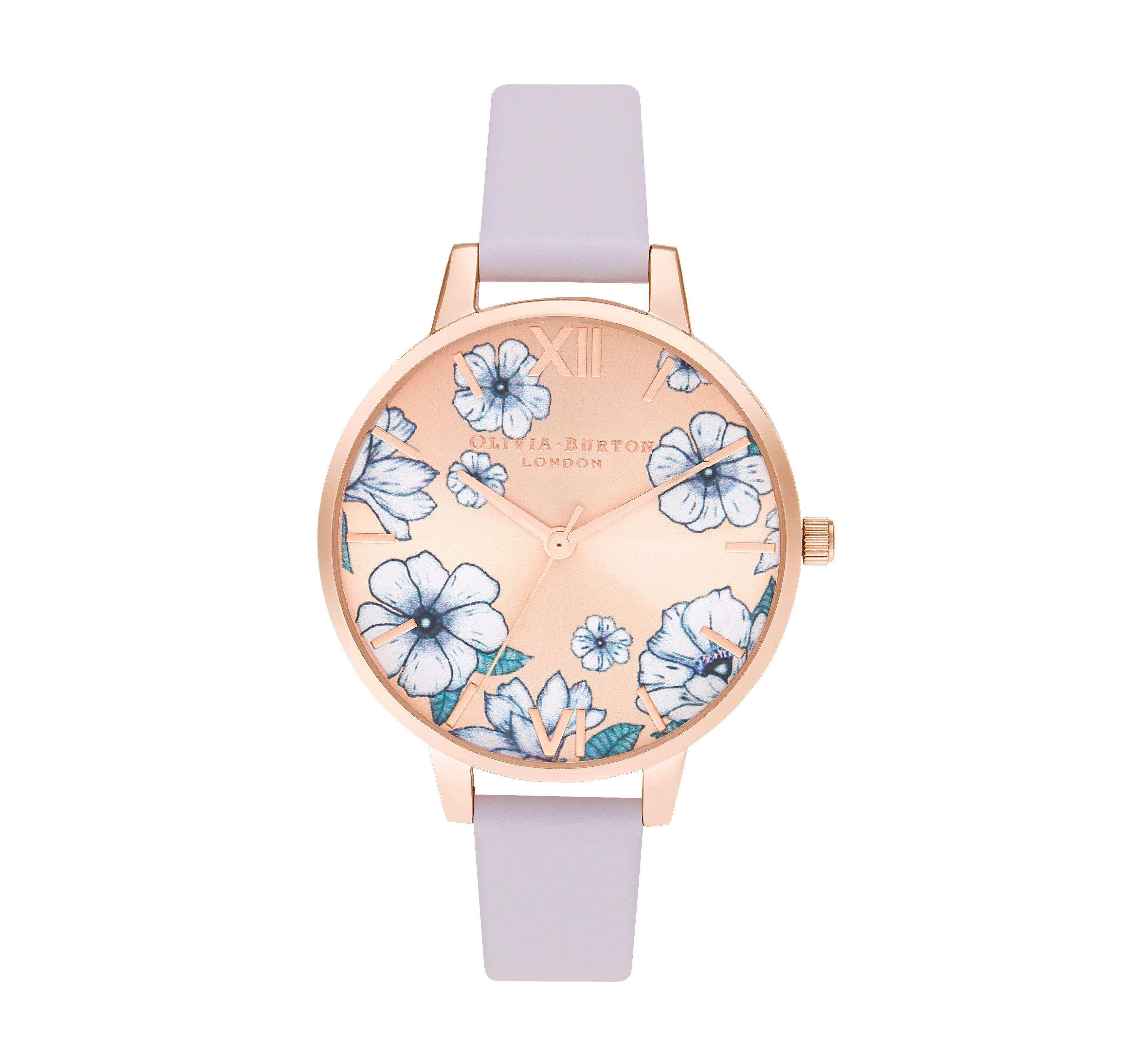 Olivia Burton Groovy Blooms Rose Gold Tone Ladies Watch