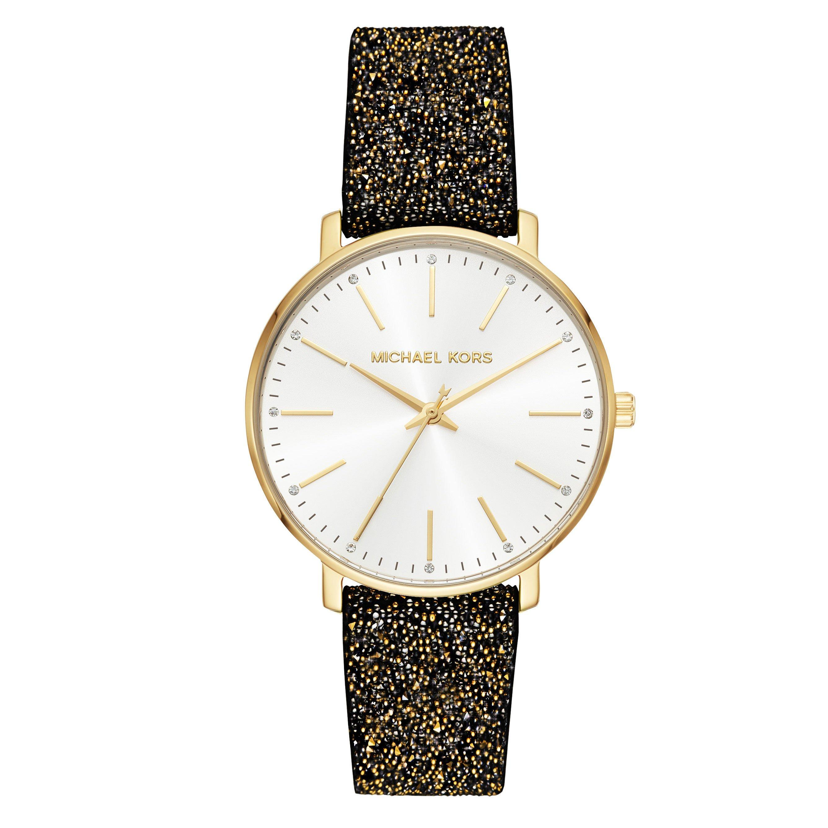 Michael Kors Pyper Glitz Gold Plated Ladies Watch