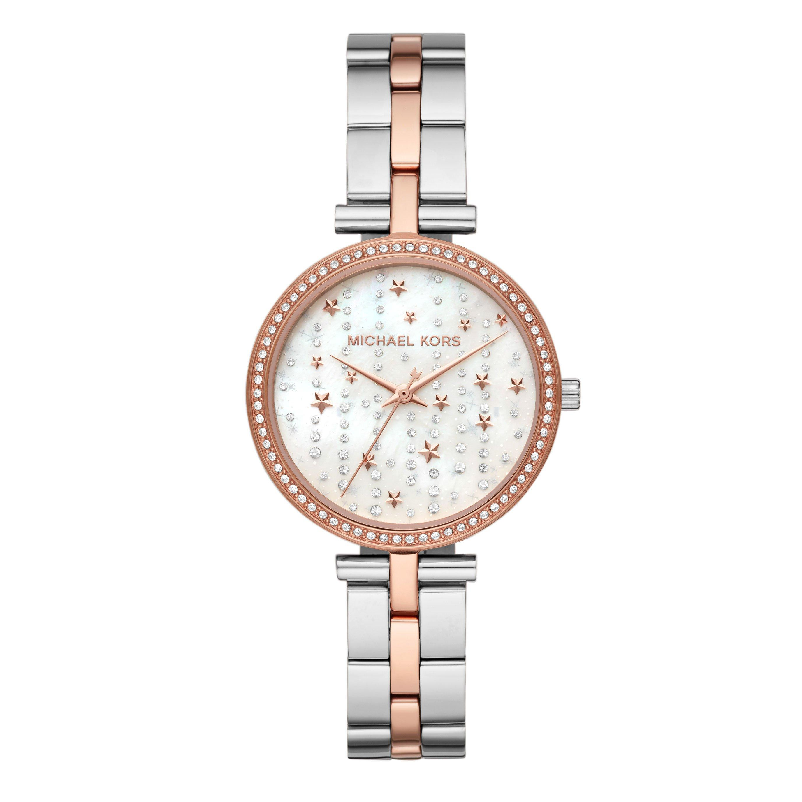 Michael Kors Maci Steel And Rose Gold Plated Ladies Watch