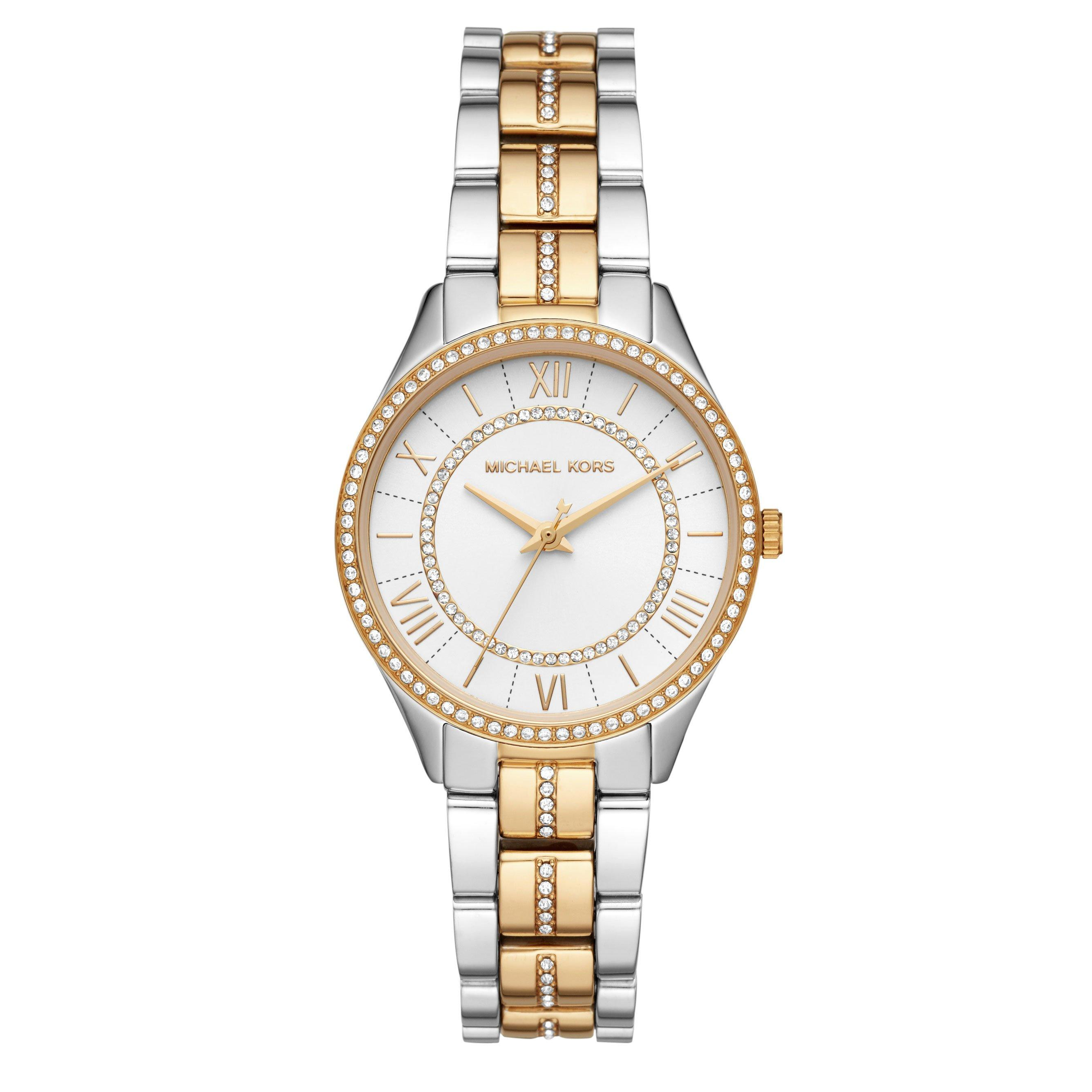 Michael Kors Lauryn Steel And Gold Plated Ladies Watch