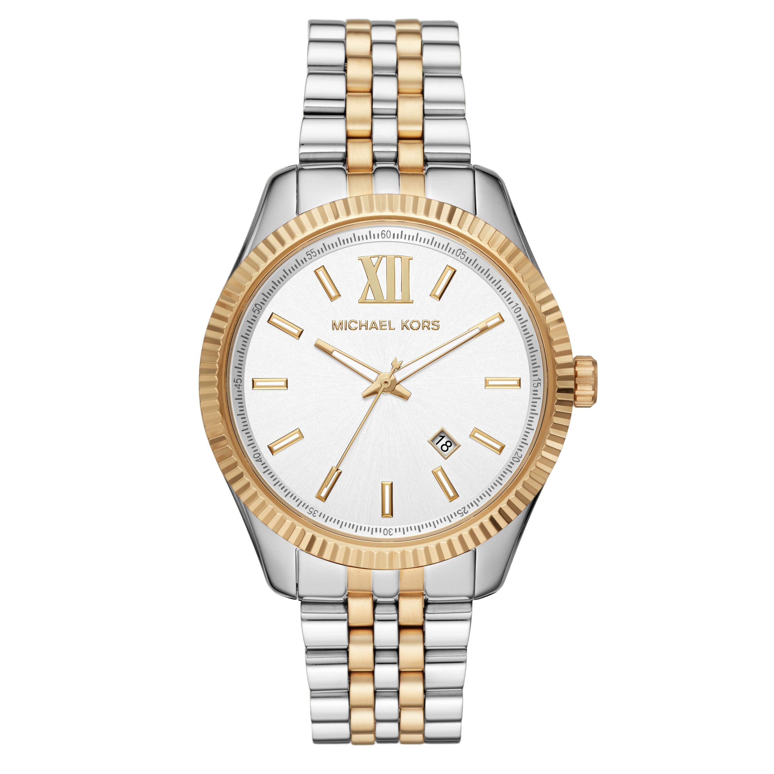 Michael Kors Lexington Steel And Gold Tone Men's Watch