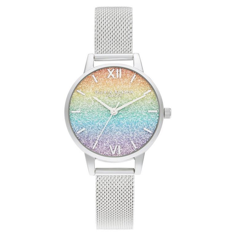 Olivia Burton Rainbow Glitter Dial Ladies Watch