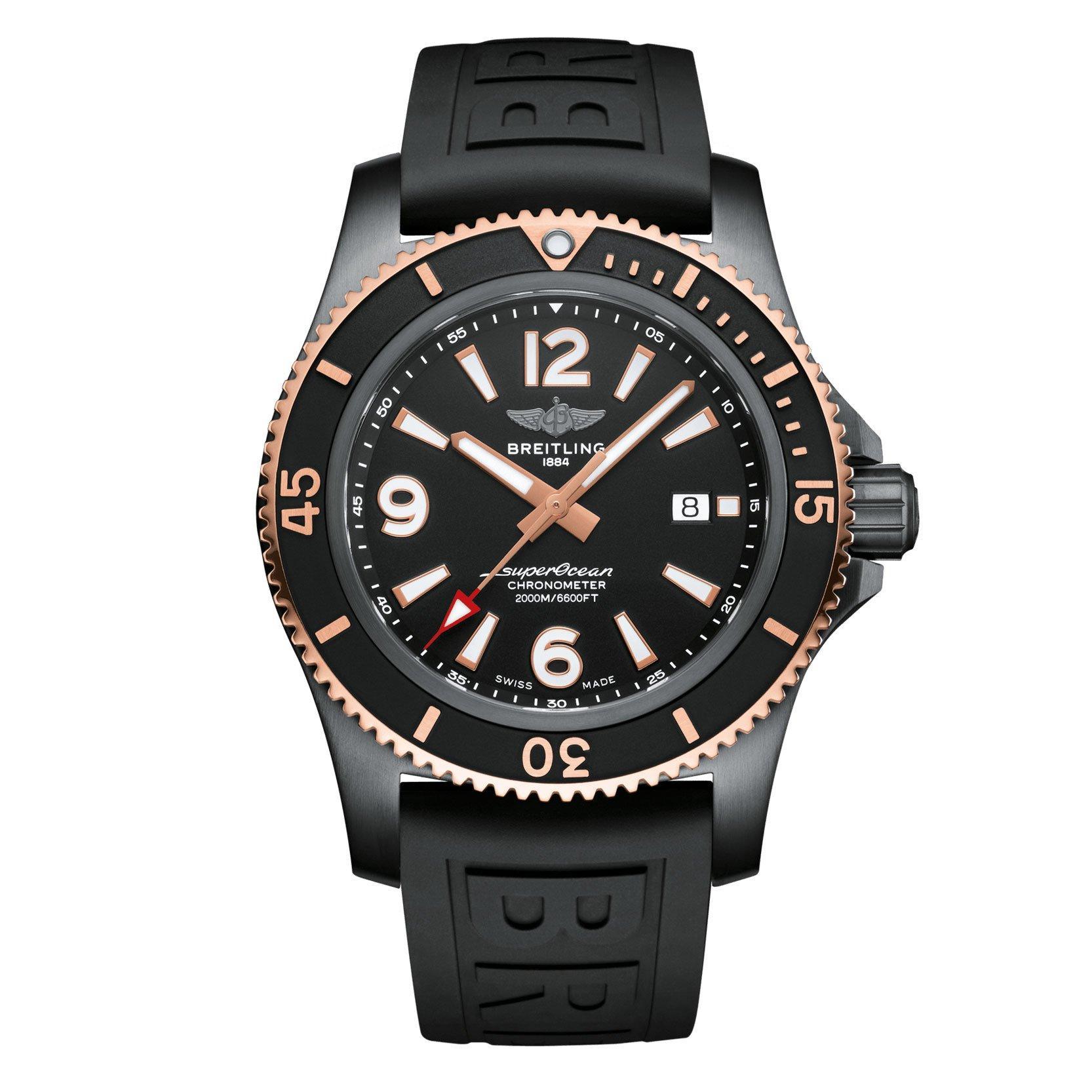 Breitling Superocean Automatic 46 Black Steel Men's Watch