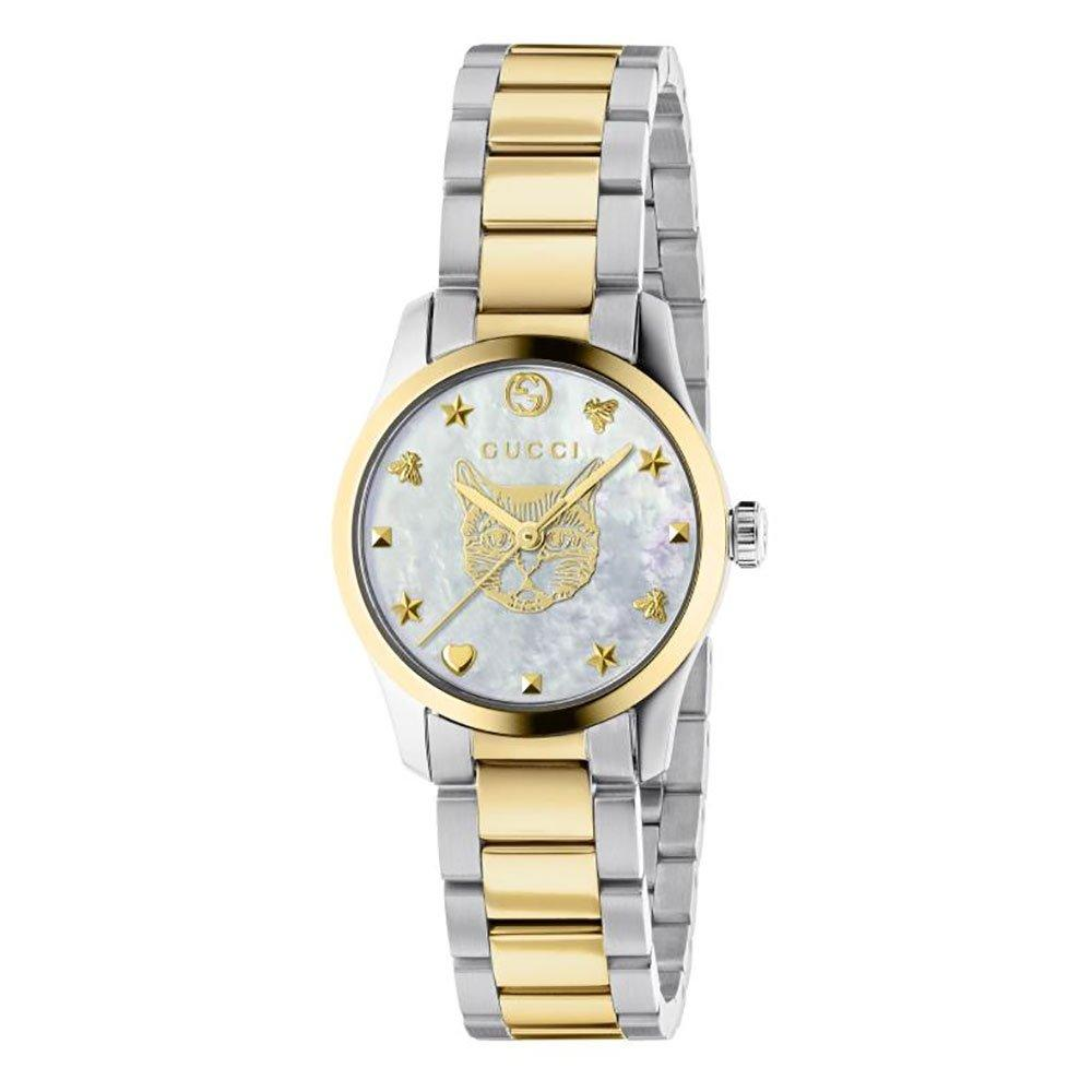 Gucci G-Timeless Steel and Gold PVD Plated Ladies Watch