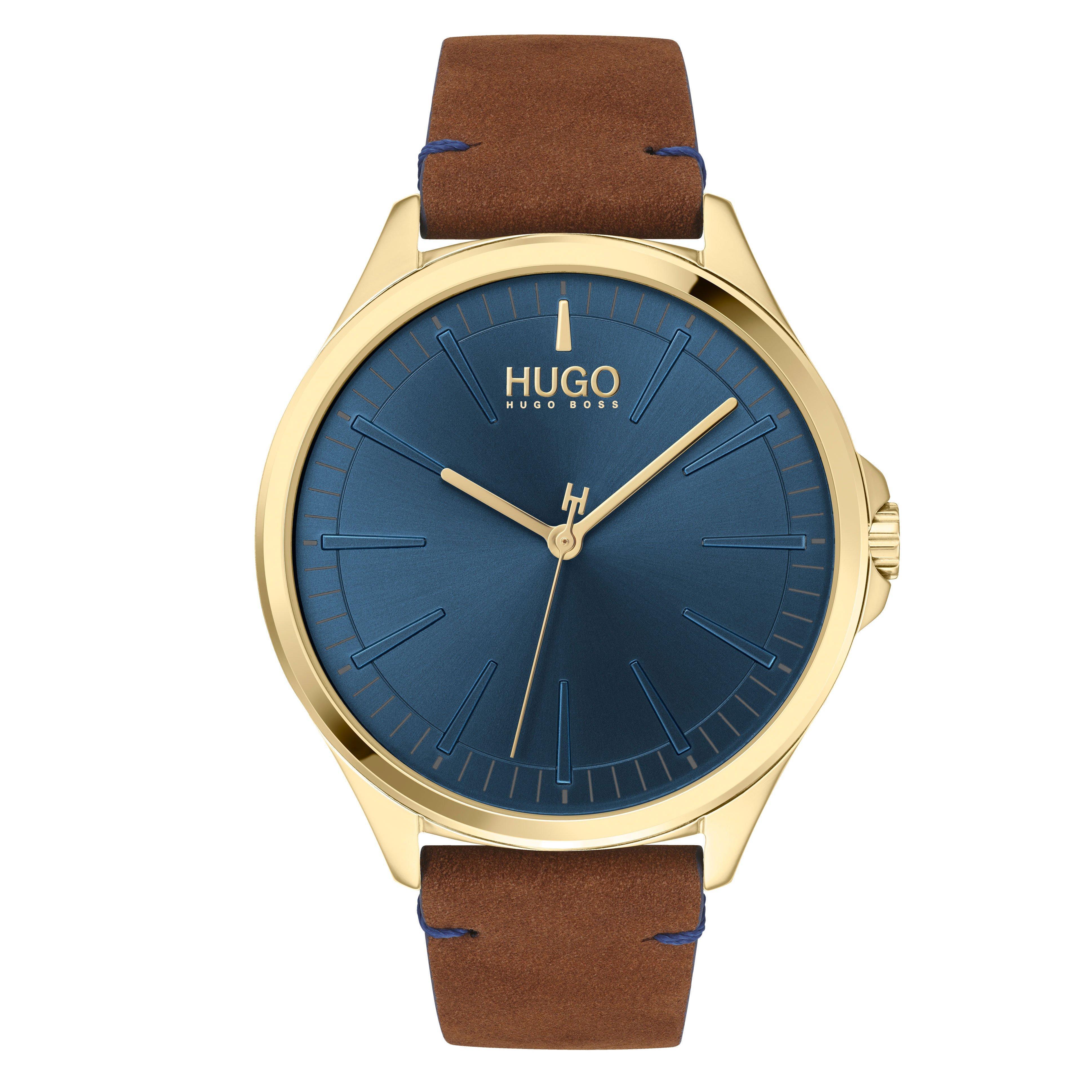 HUGO Smash Gold Tone Men's Watch