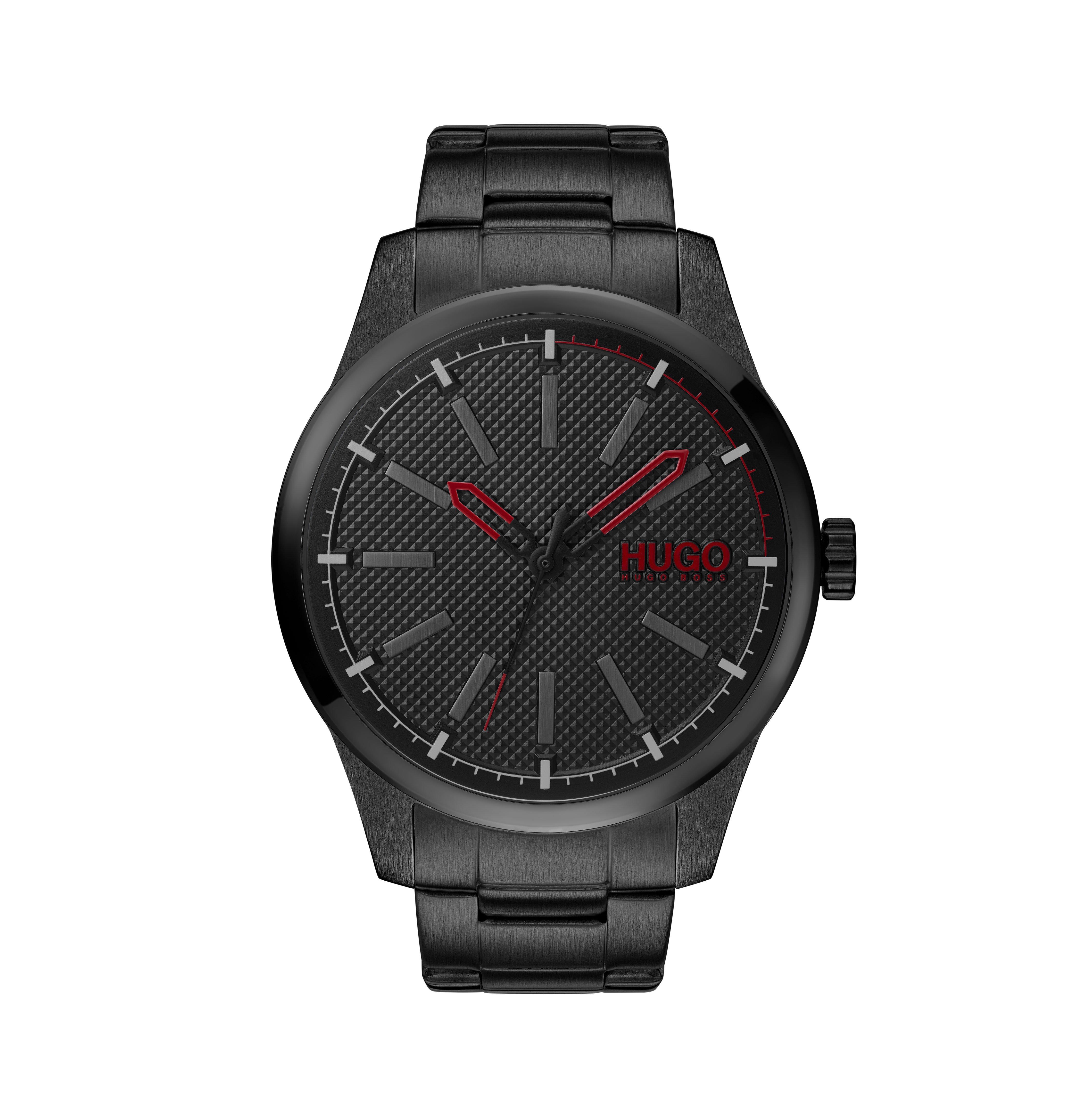 HUGO Invent Black Men's Watch
