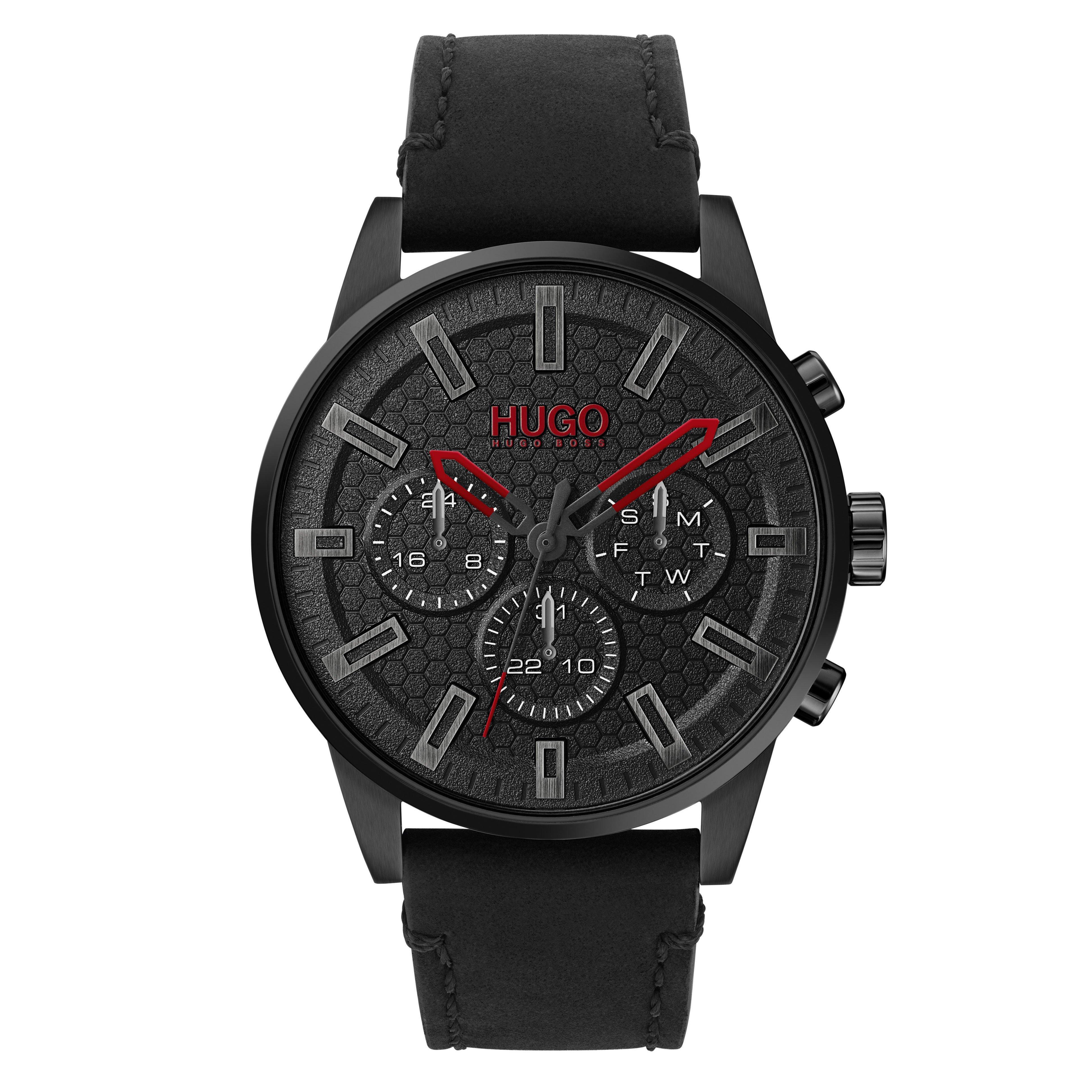 HUGO Seek Black Chronograph Men's Watch