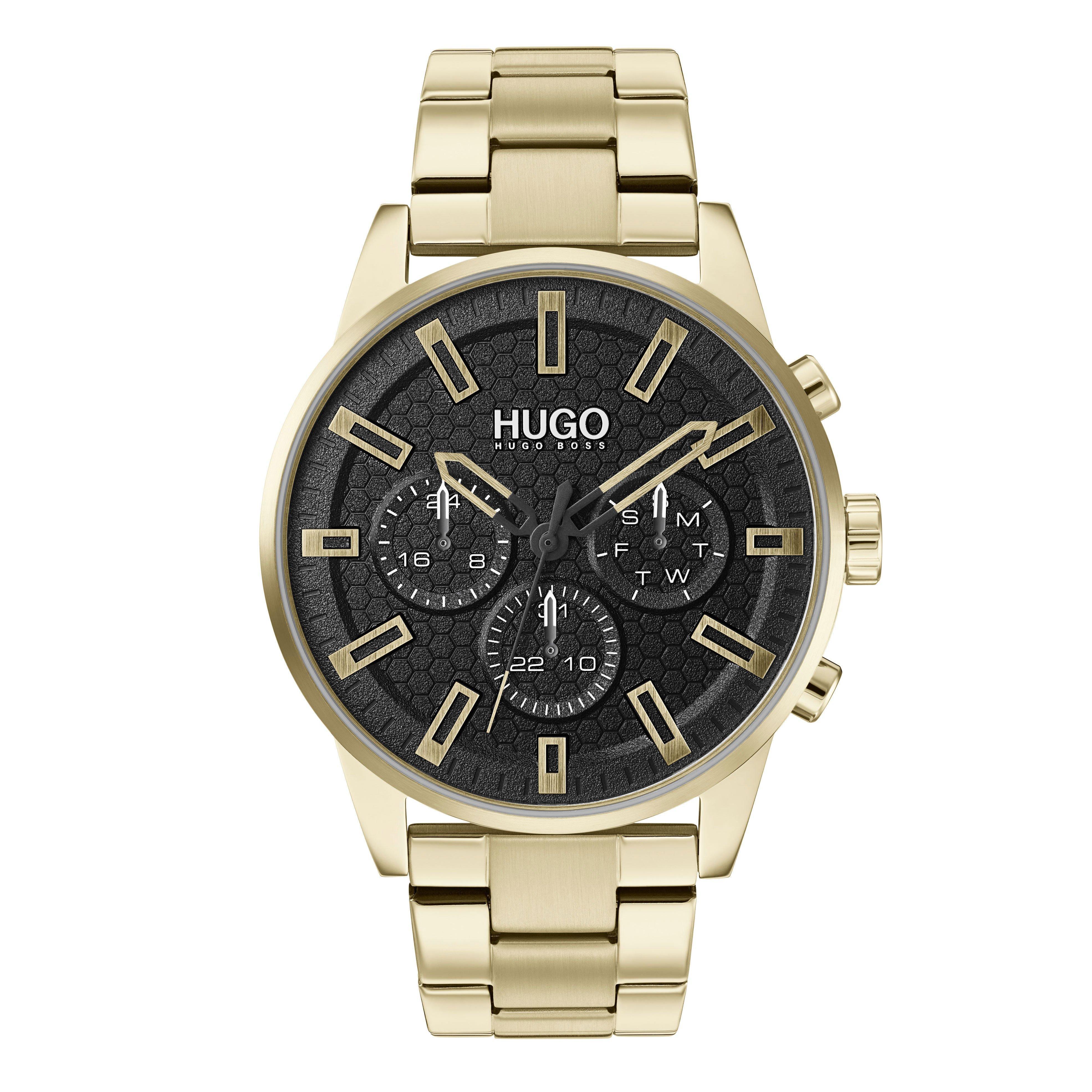 HUGO Seek Gold Tone Chronograph Men's Watch