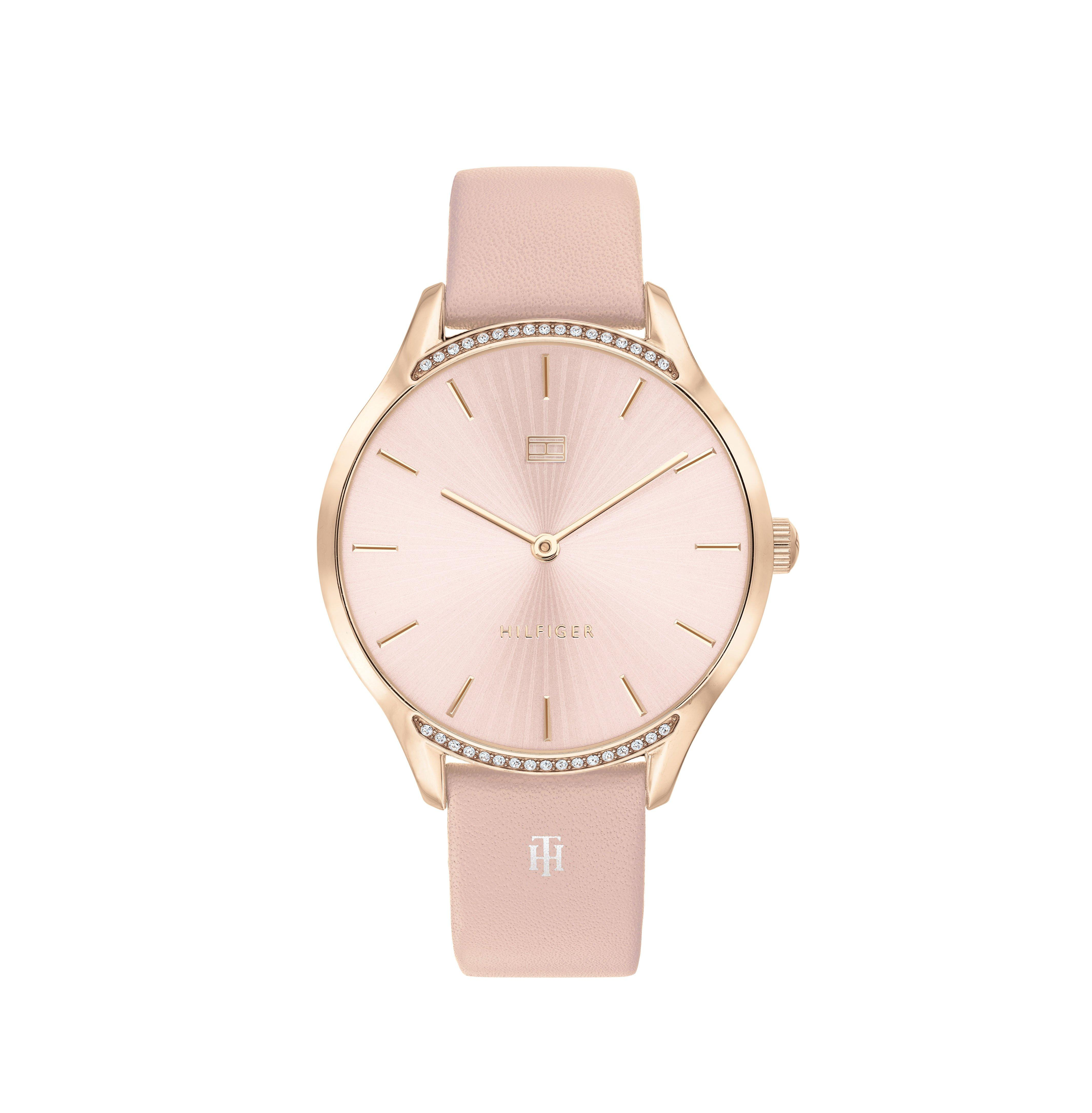 Tommy Hilfiger Gray Rose Gold Tone Ladies Watch