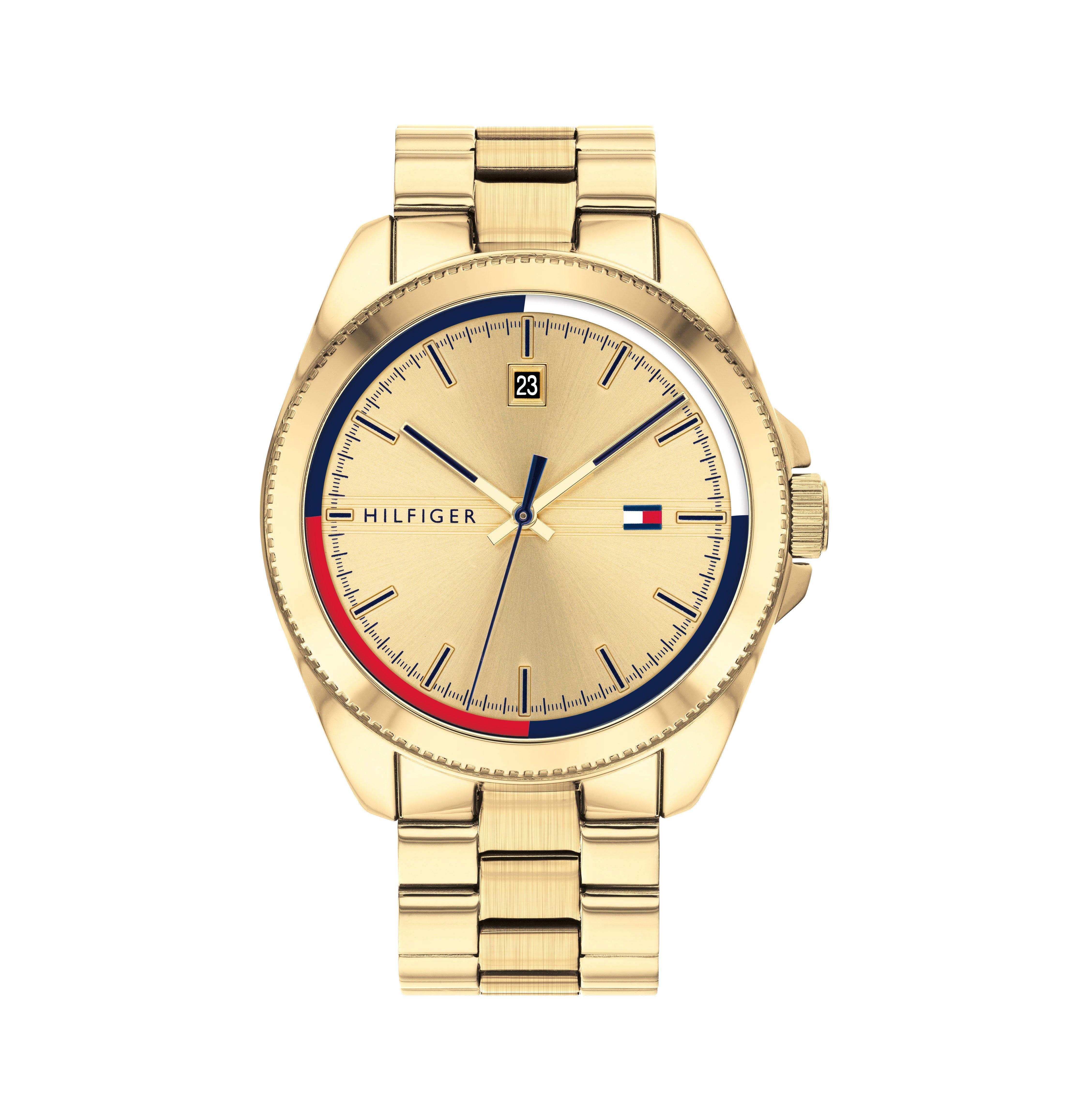 Tommy Hilfiger Riley Gold Tone Men's Watch