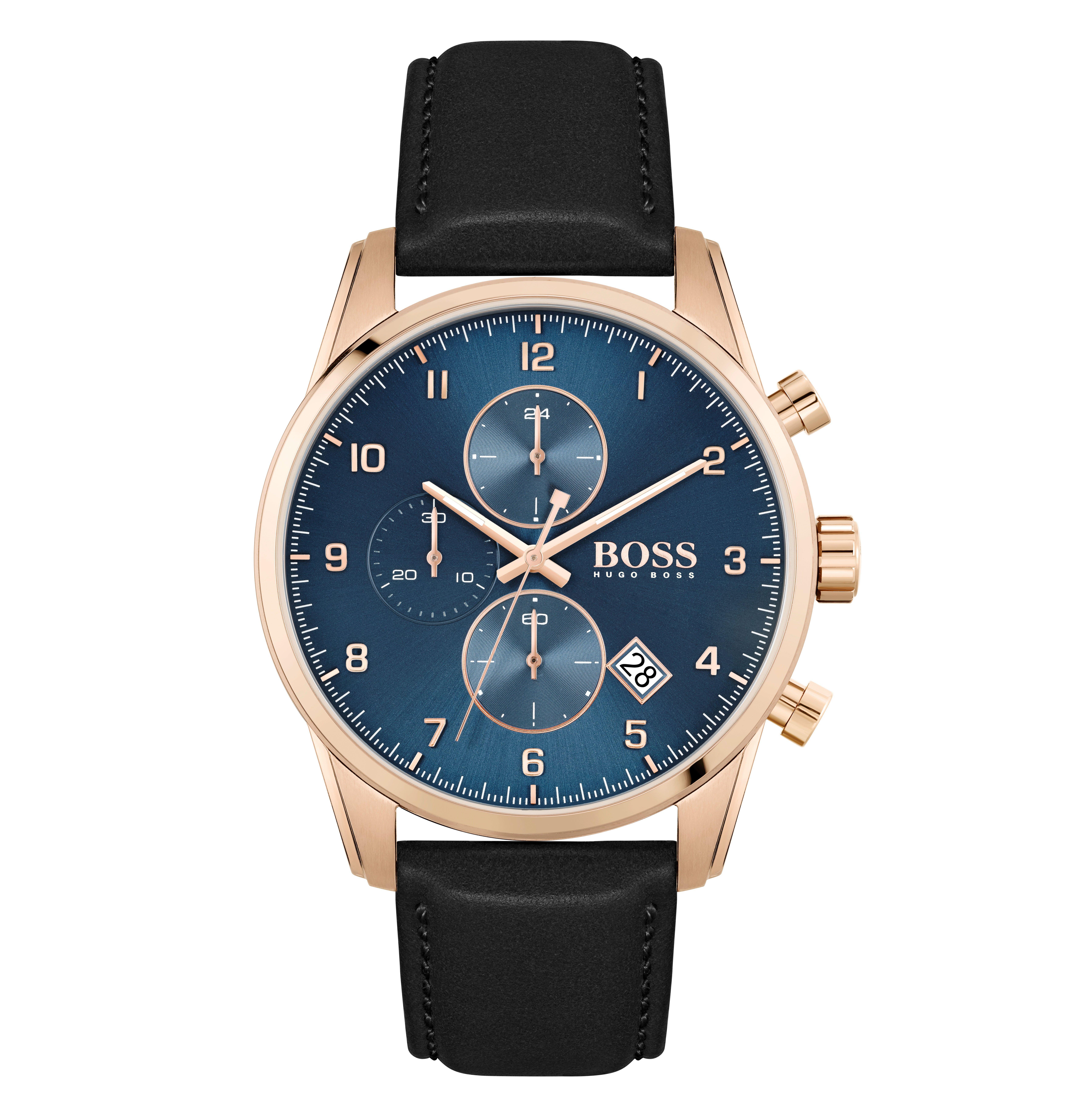 BOSS Skymaster Rose Gold Tone Chronograph Men's Watch