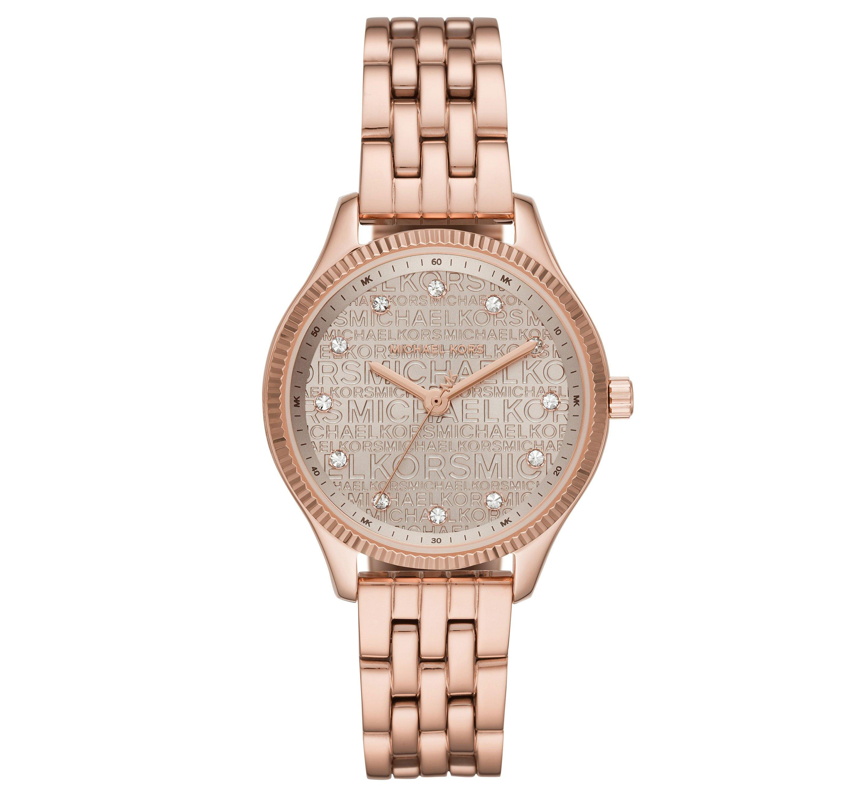Michael Kors Lexington Rose Gold Tone Ladies Watch