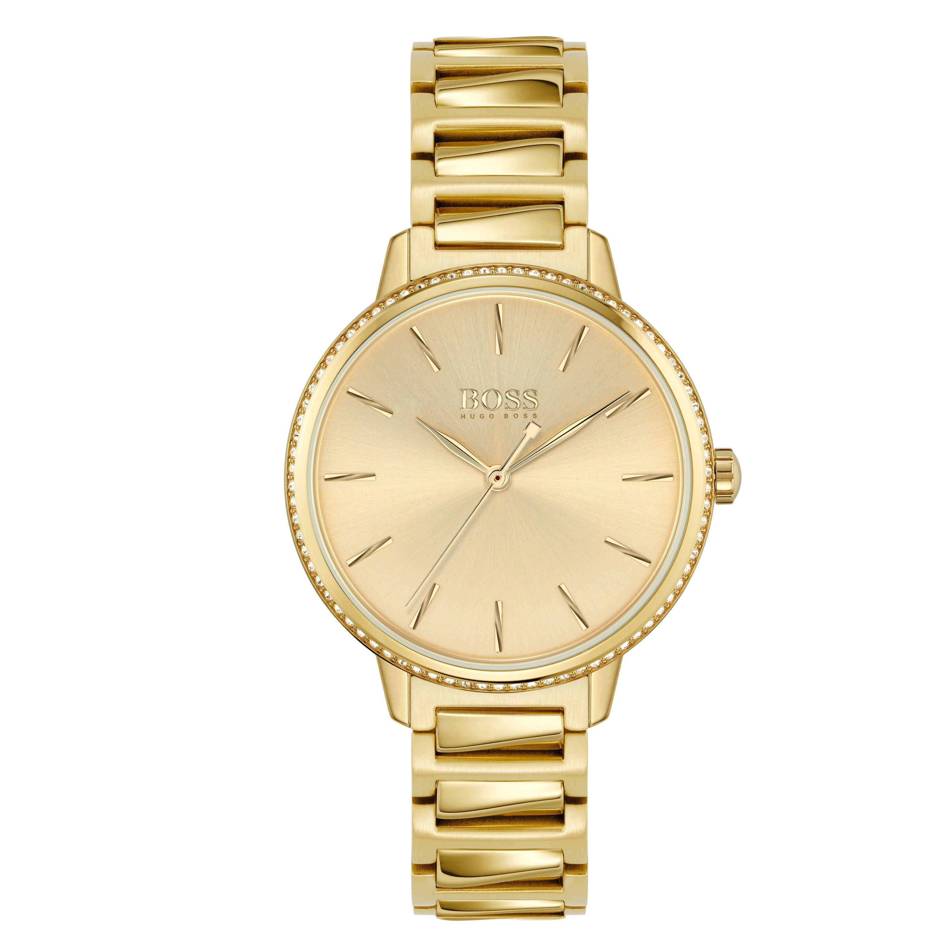BOSS Signature Gold Tone Ladies Watch