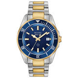 Bulova Marine Star Steel and Gold Tone Men's Watch