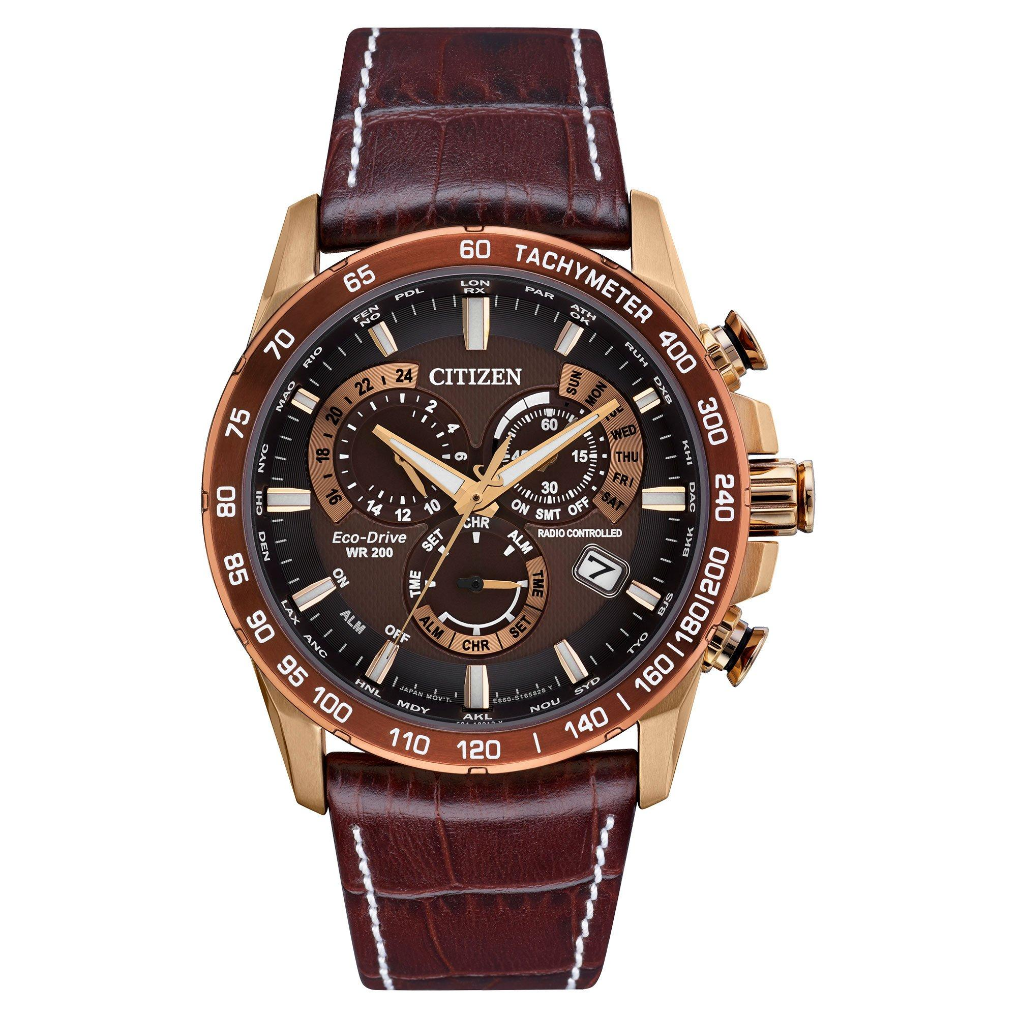 Citizen PCAT Rose Gold Plated Chronograph Men's Watch