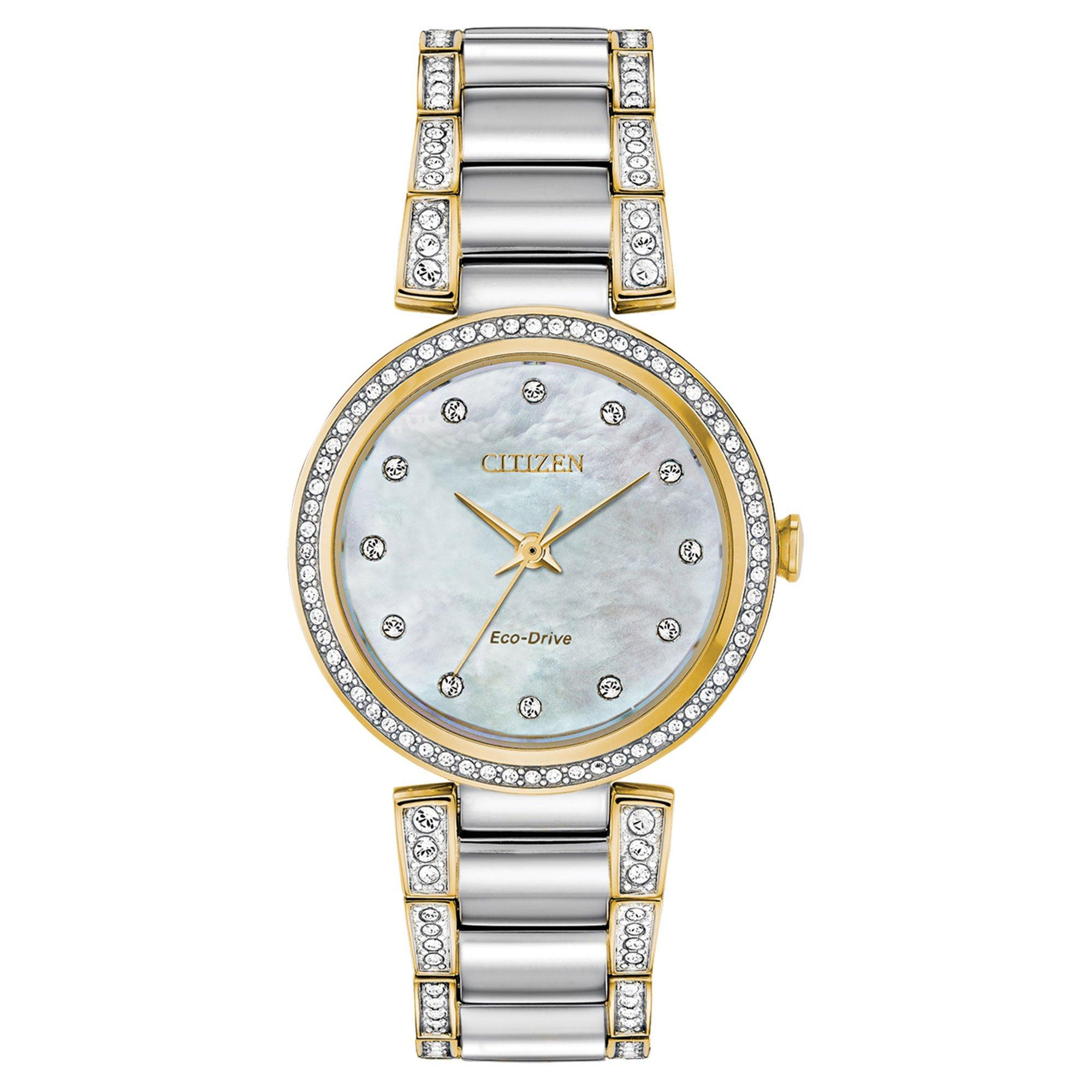Citizen Silhouette Crystal Steel and Gold Plated Ladies Watch