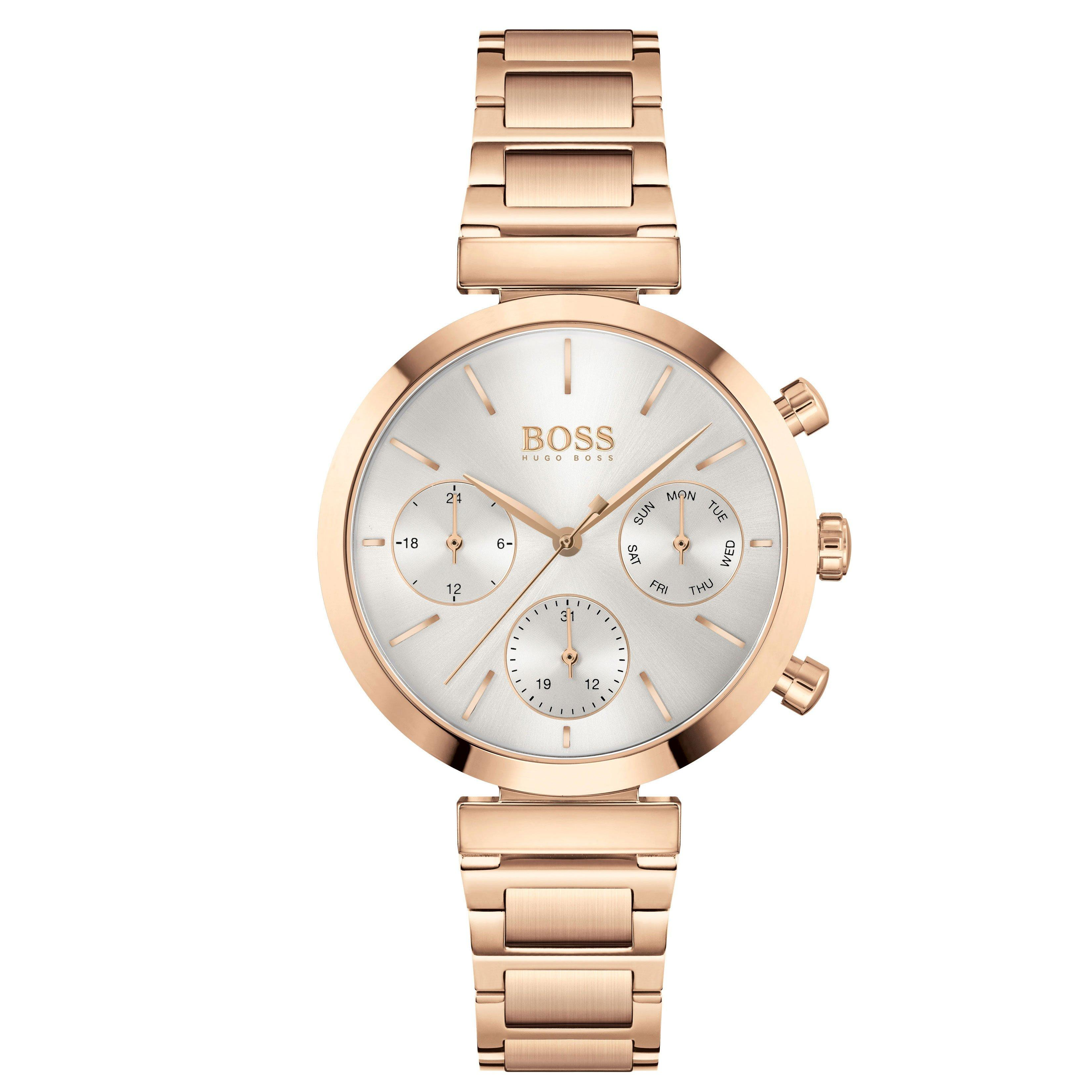 BOSS Flawless Rose Gold Tone Chronograph Ladies Watch