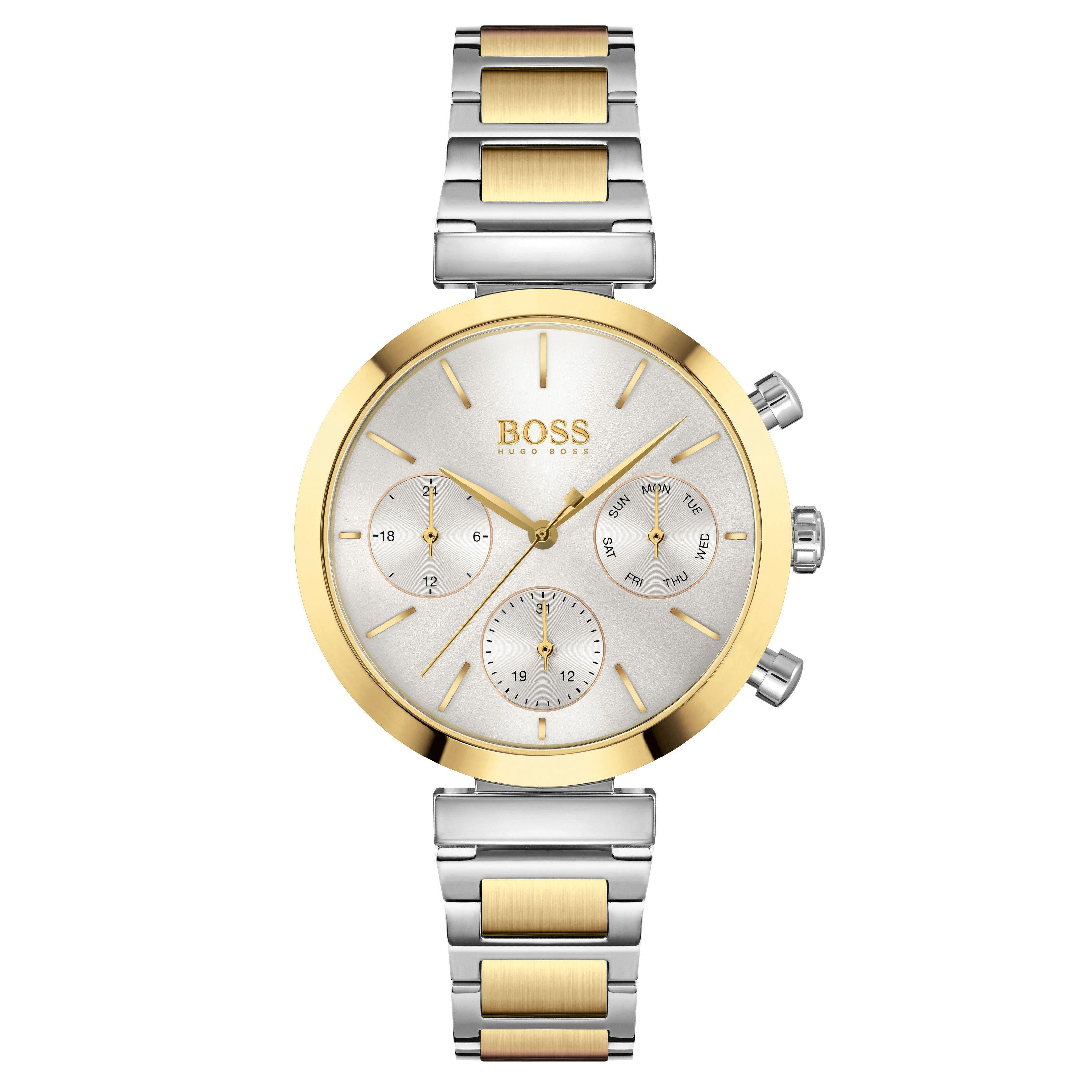 BOSS Flawless Steel and Gold Tone Chronograph Ladies Watch