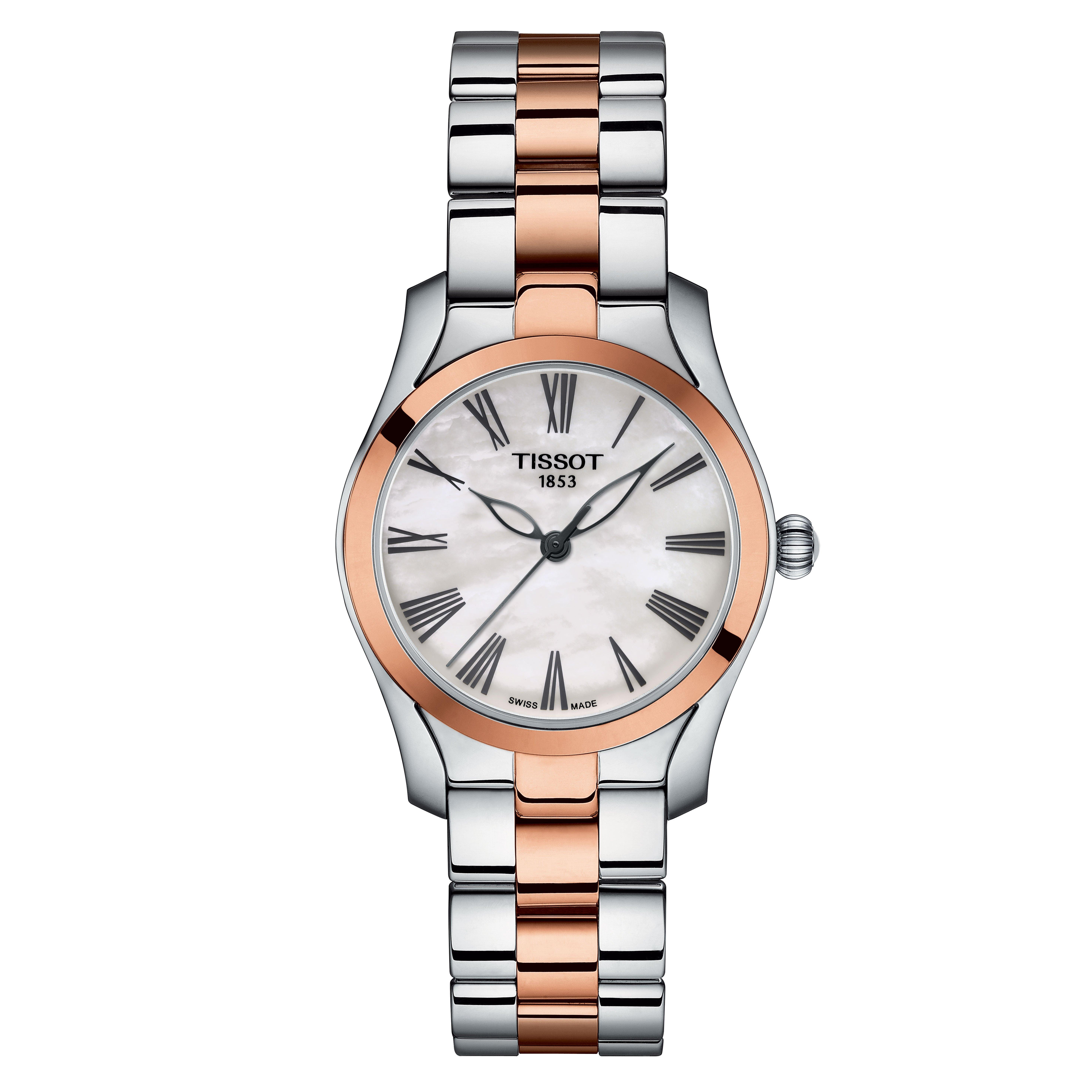 Tissot T-Wave Steel and Rose Gold Plated Ladies Watch