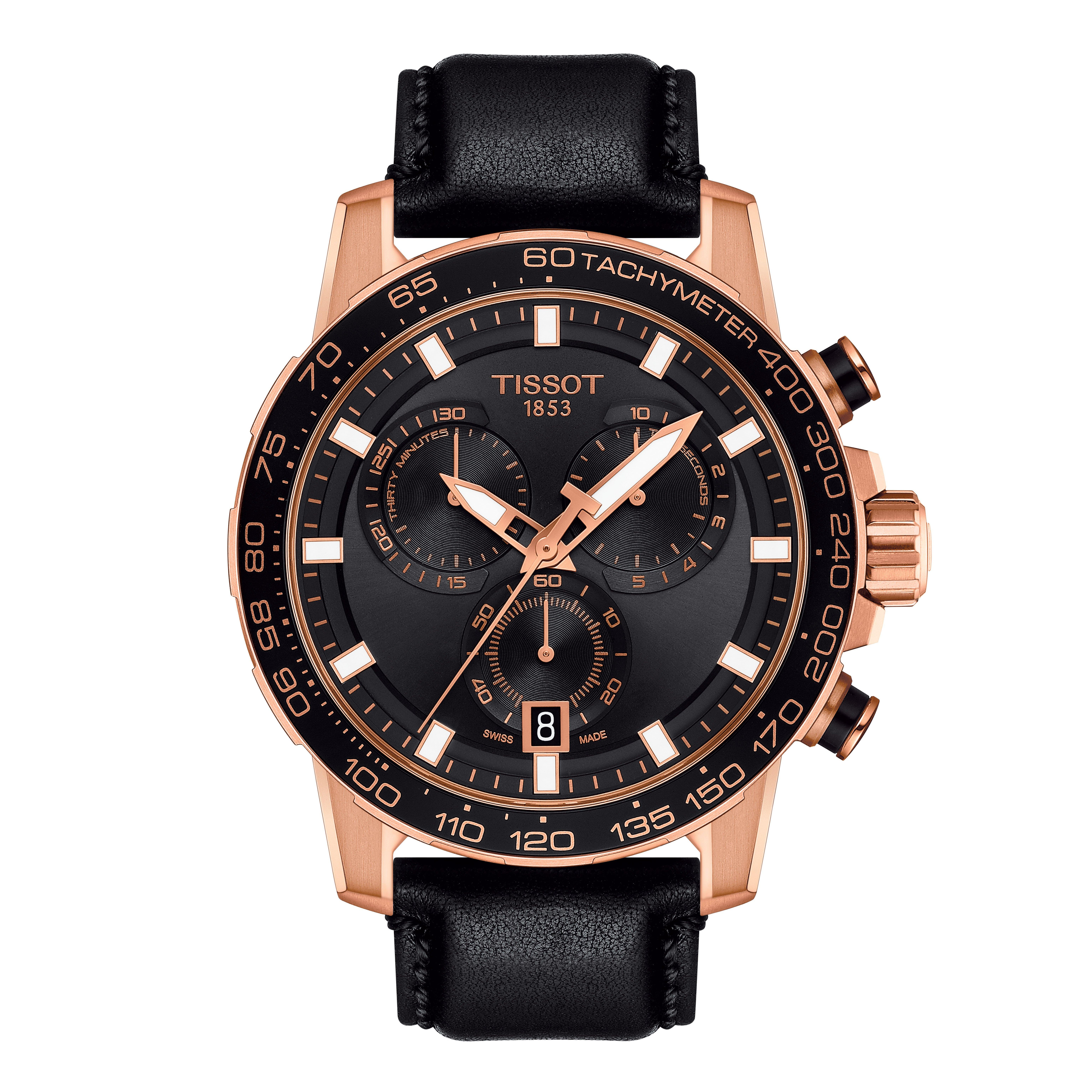 Tissot Supersport Chrono Rose Gold Plated Chronograph Men's Watch