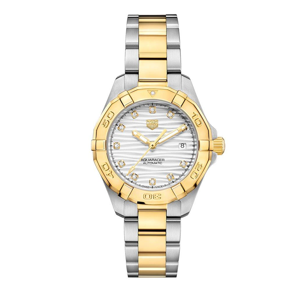 TAG Heuer Aquaracer Steel and 18ct Gold Automatic Ladies Watch