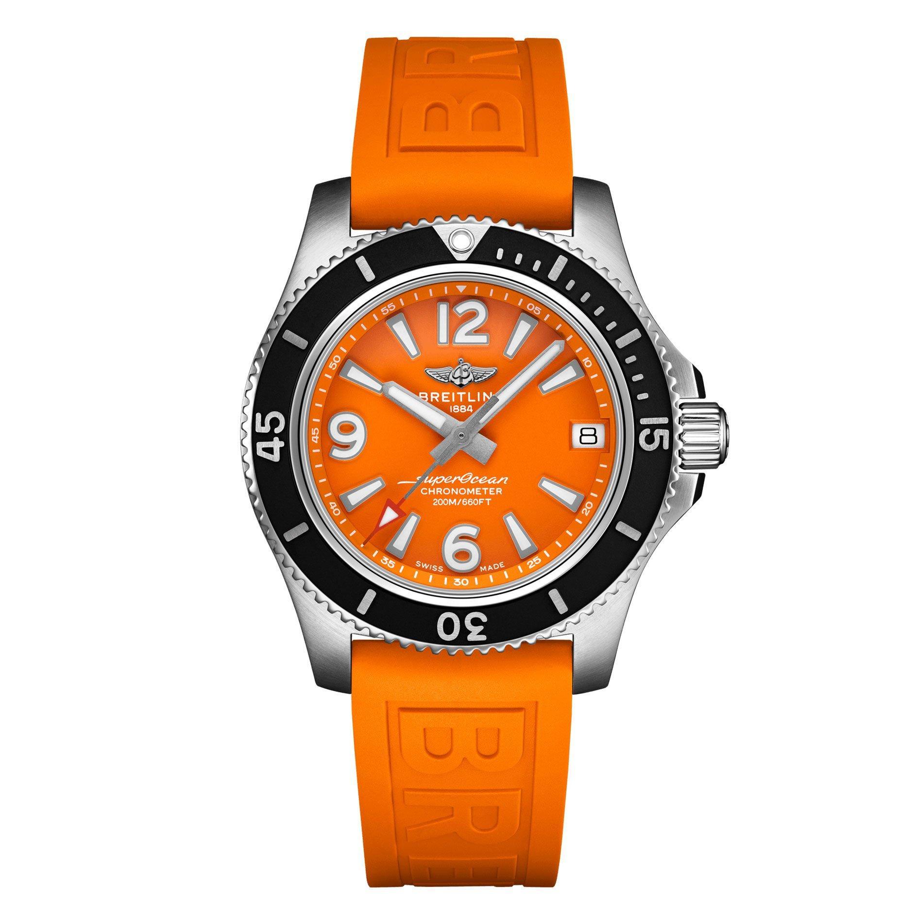 Breitling Superocean Automatic 36 Orange Ladies Watch