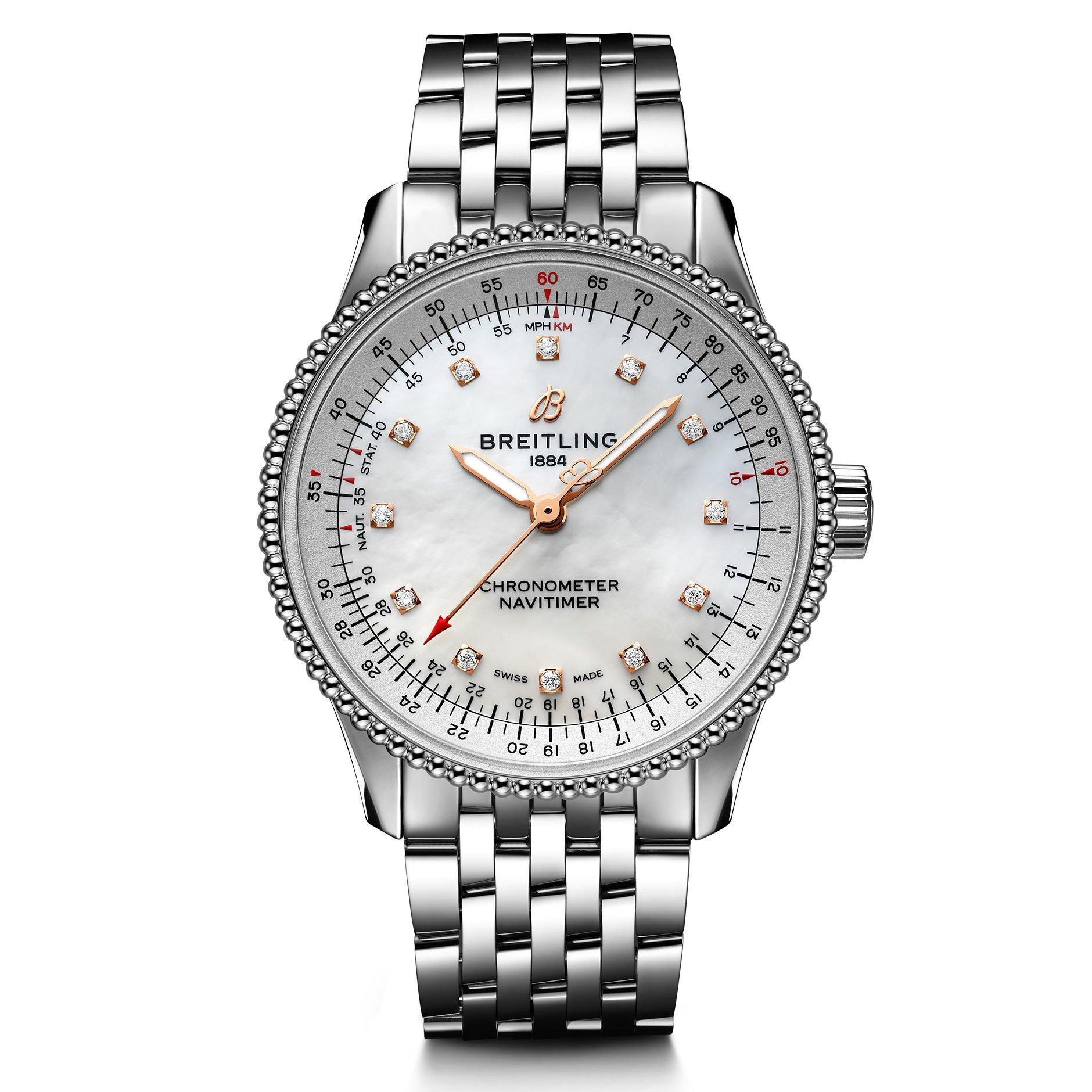 Breitling Navitimer Automatic 35 Diamond Ladies Watch