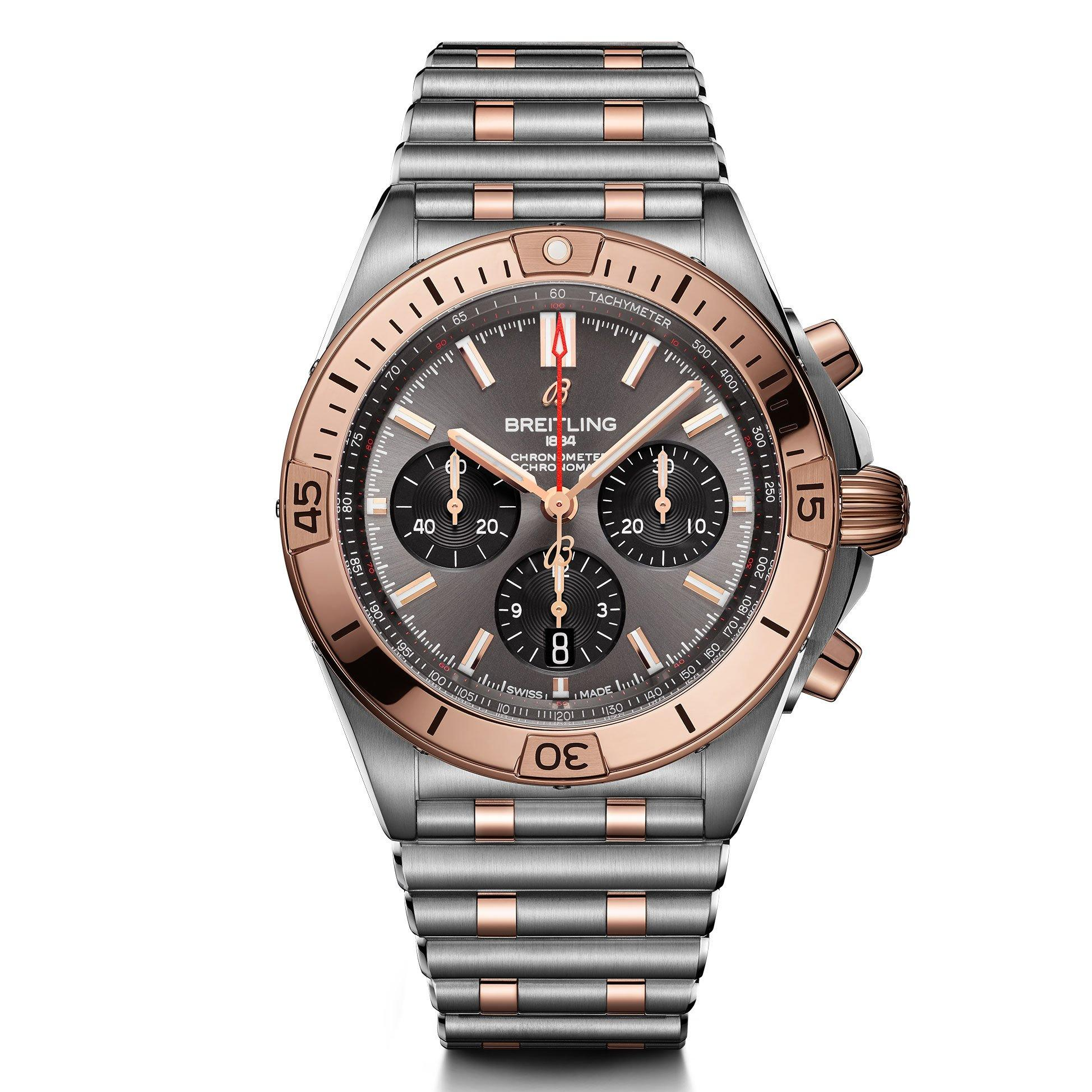 Breitling Chronomat B01 42 Steel and 18ct Red Gold Chronograph Men's Watch
