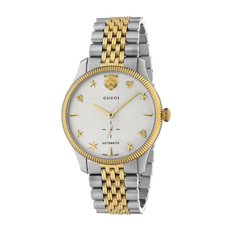 Gucci G-Timeless Steel and Gold PVD Men's Watch
