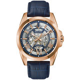 Bulova Sutton Rose Gold Tone Automatic Men's Watch