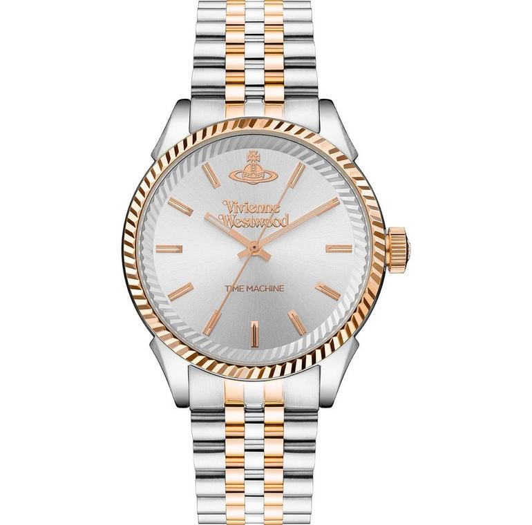 Vivienne Westwood Seymour Steel and Rose Gold Plated Men's Watch