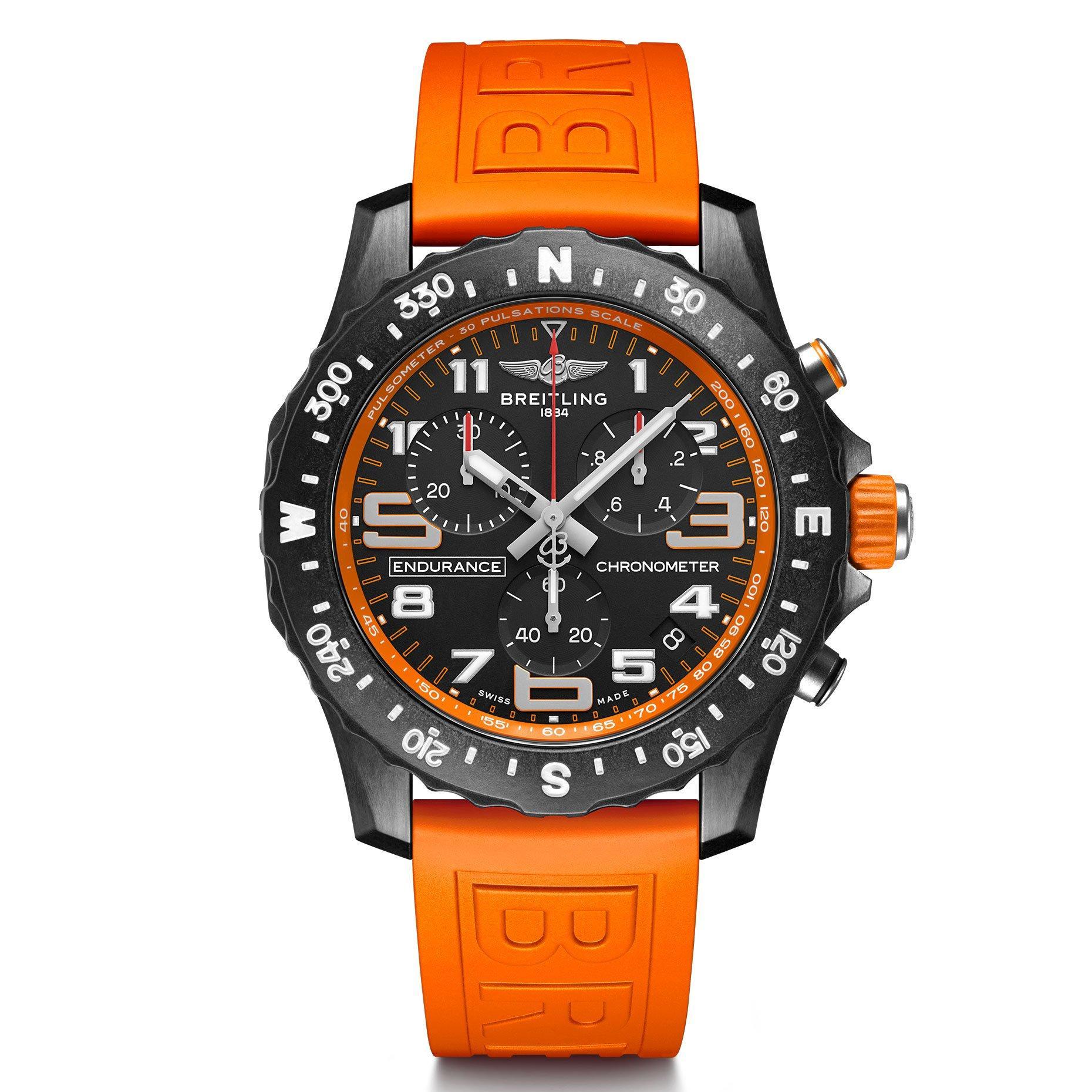 Breitling Endurance Pro Chronometer Orange Men's Watch